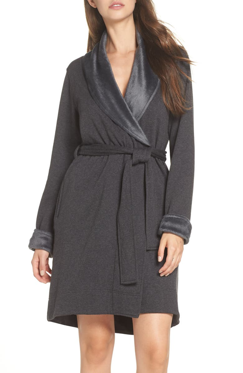 b1fec86c76 Ugg Blanche Ii Short Robe In Black Bear Heather