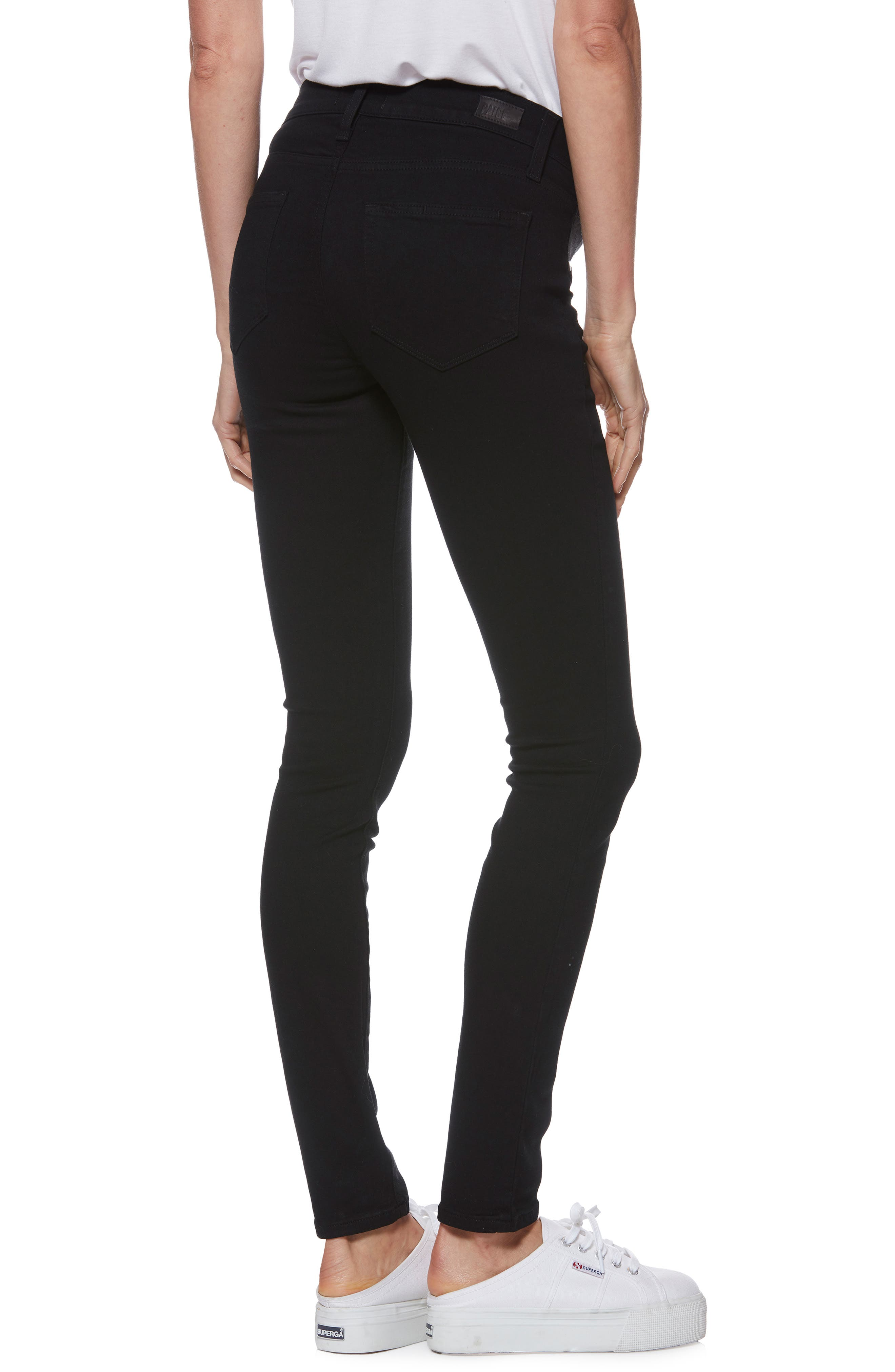 'Transcend - Verdugo Ultra Skinny Maternity Jeans,                             Alternate thumbnail 2, color,                             BLACK SHADOW