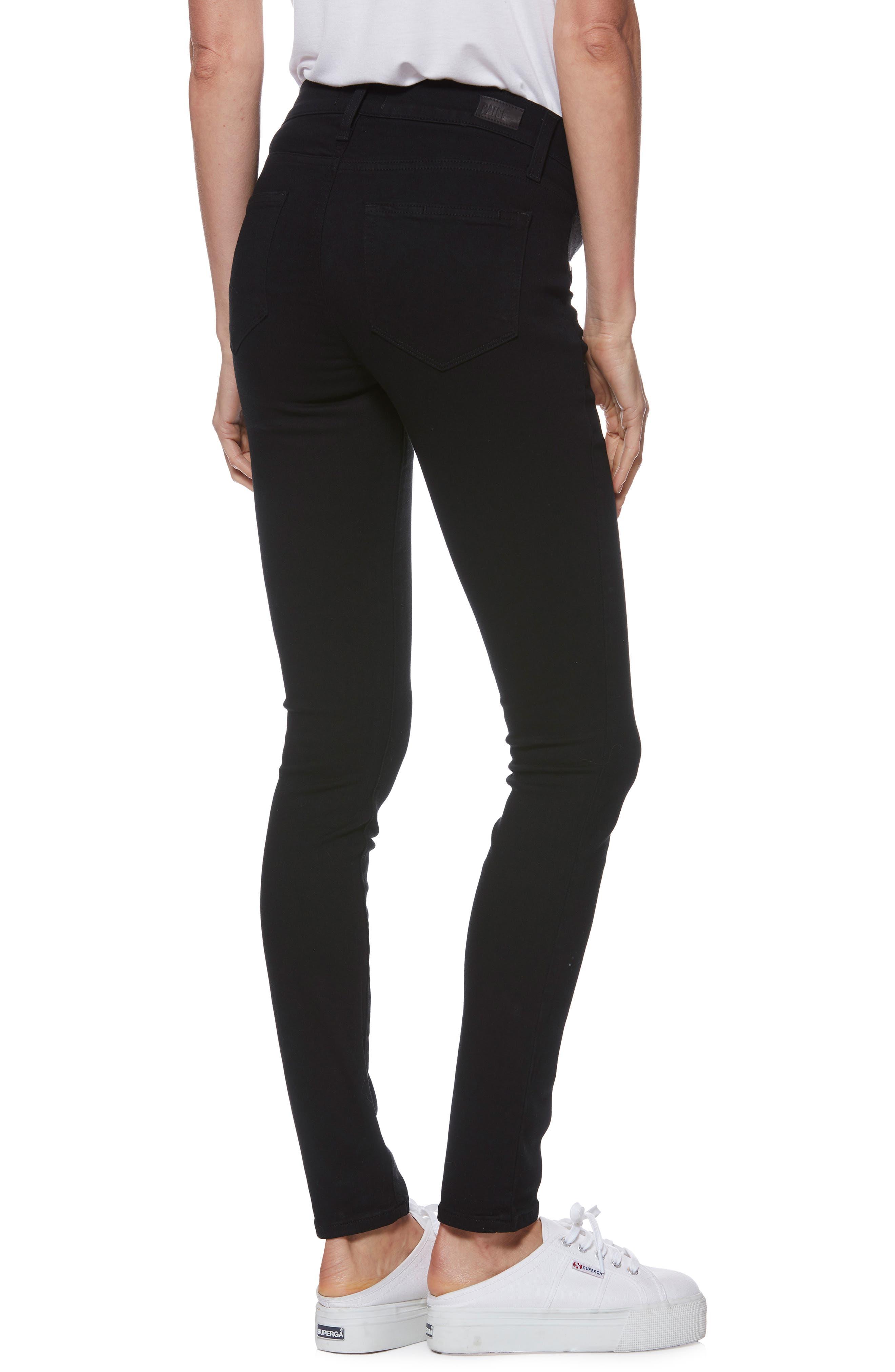 'Transcend - Verdugo Ultra Skinny Maternity Jeans,                             Alternate thumbnail 2, color,                             BLACK SHADOW