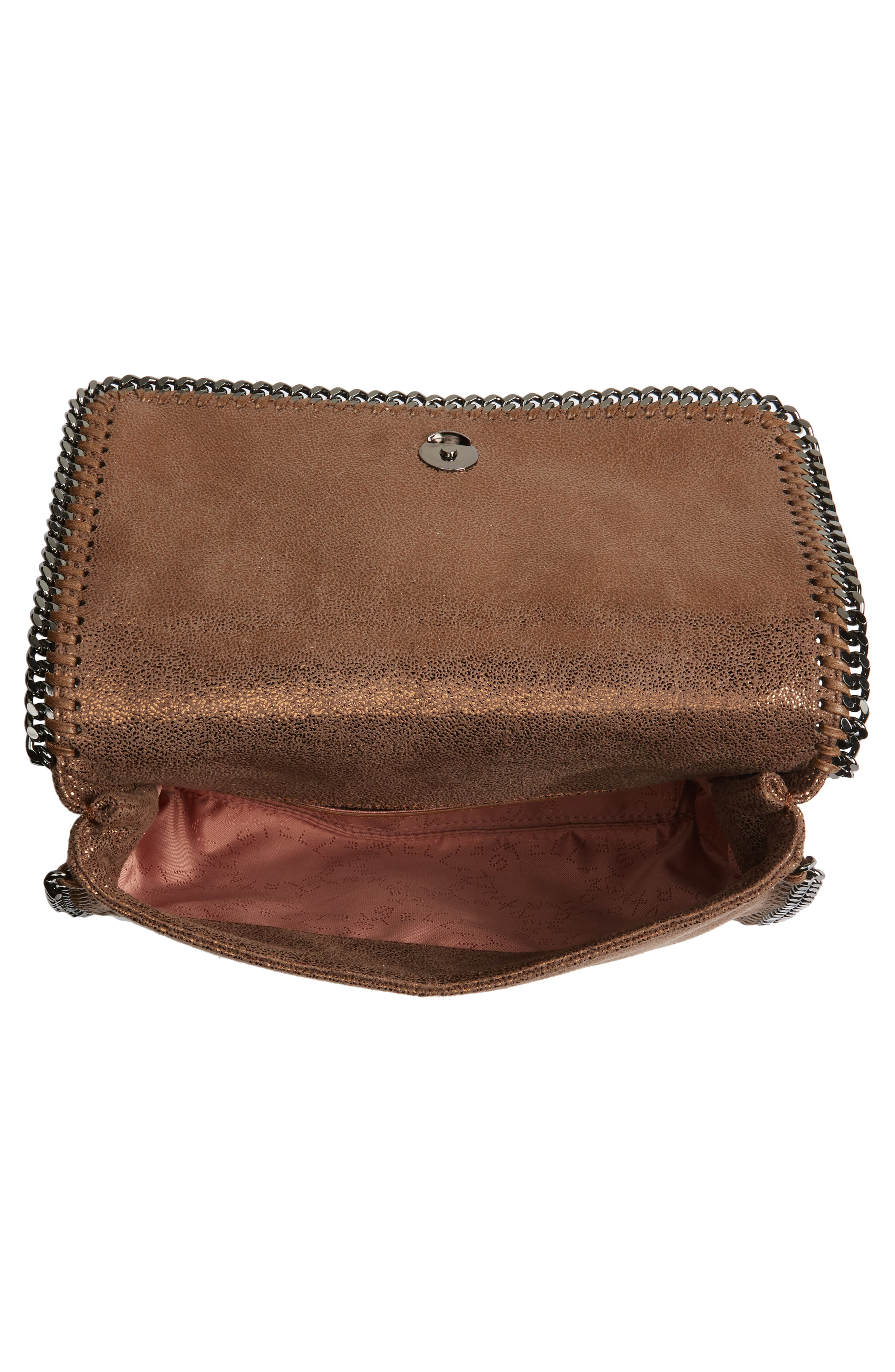 Falabella Metallic Faux Leather Convertible Shoulder Bag,                             Alternate thumbnail 4, color,                             200