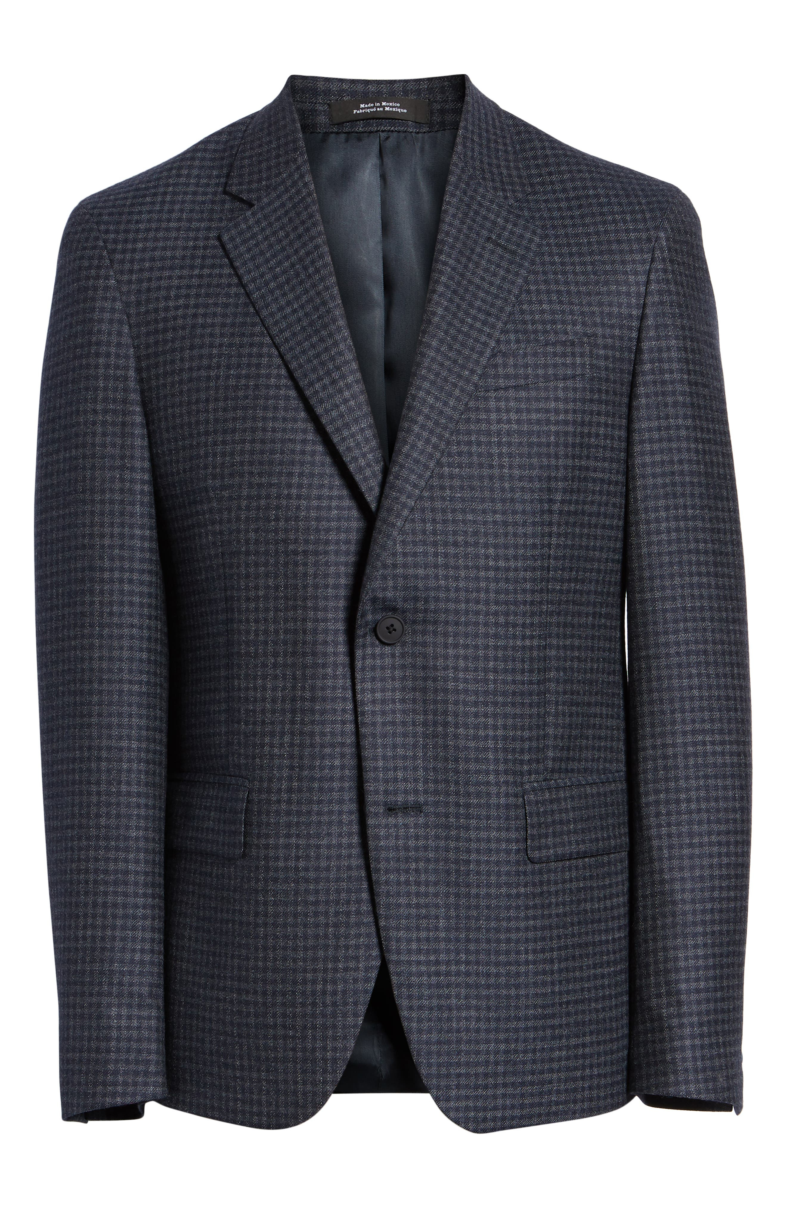 Trim Fit Check Sport Coat,                             Alternate thumbnail 5, color,                             410