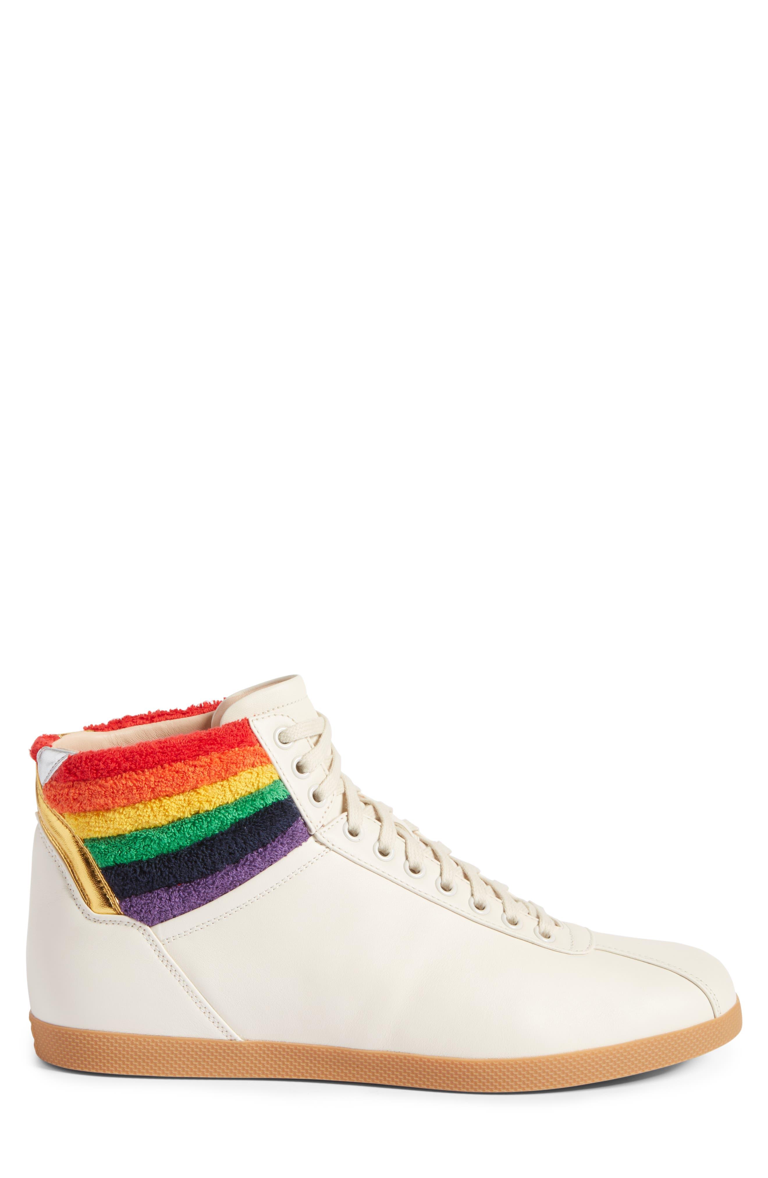 Bambi Rainbow Terry High Top Sneaker,                             Alternate thumbnail 3, color,
