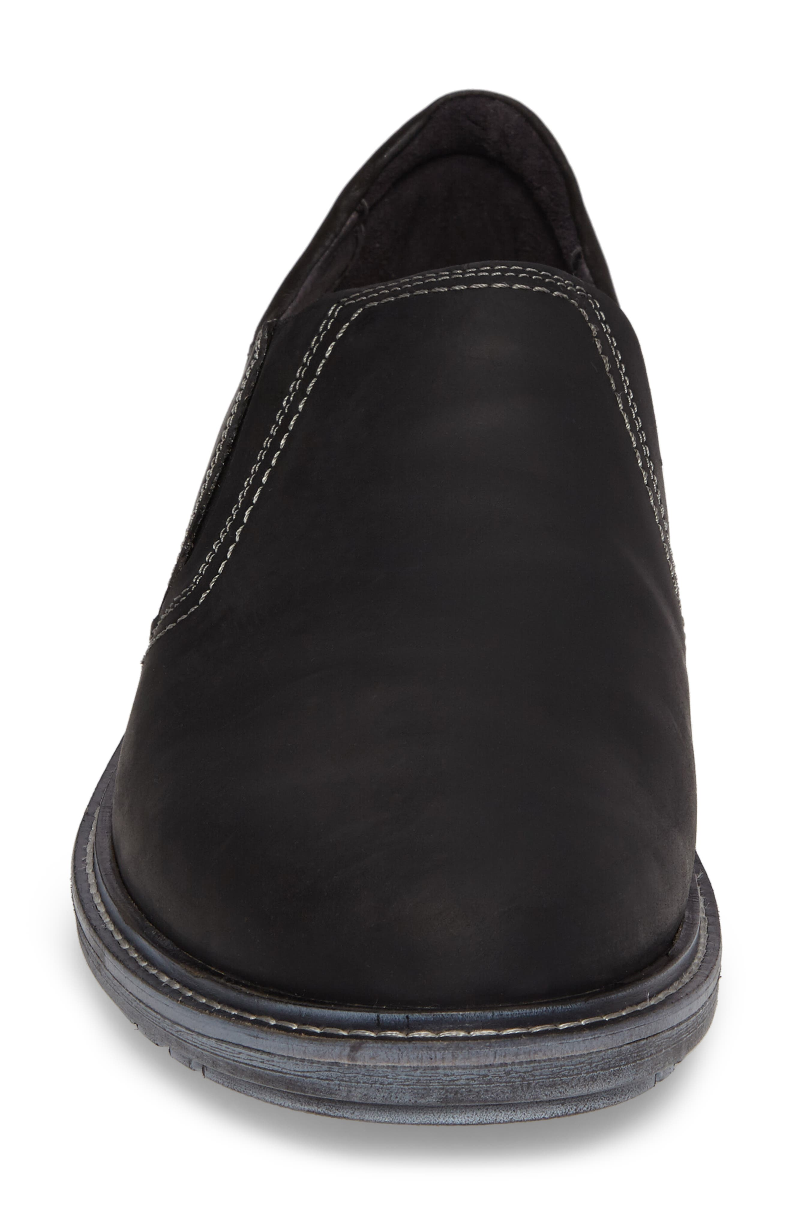 Manyara Slip-On Loafer,                             Alternate thumbnail 4, color,                             COAL LEATHER