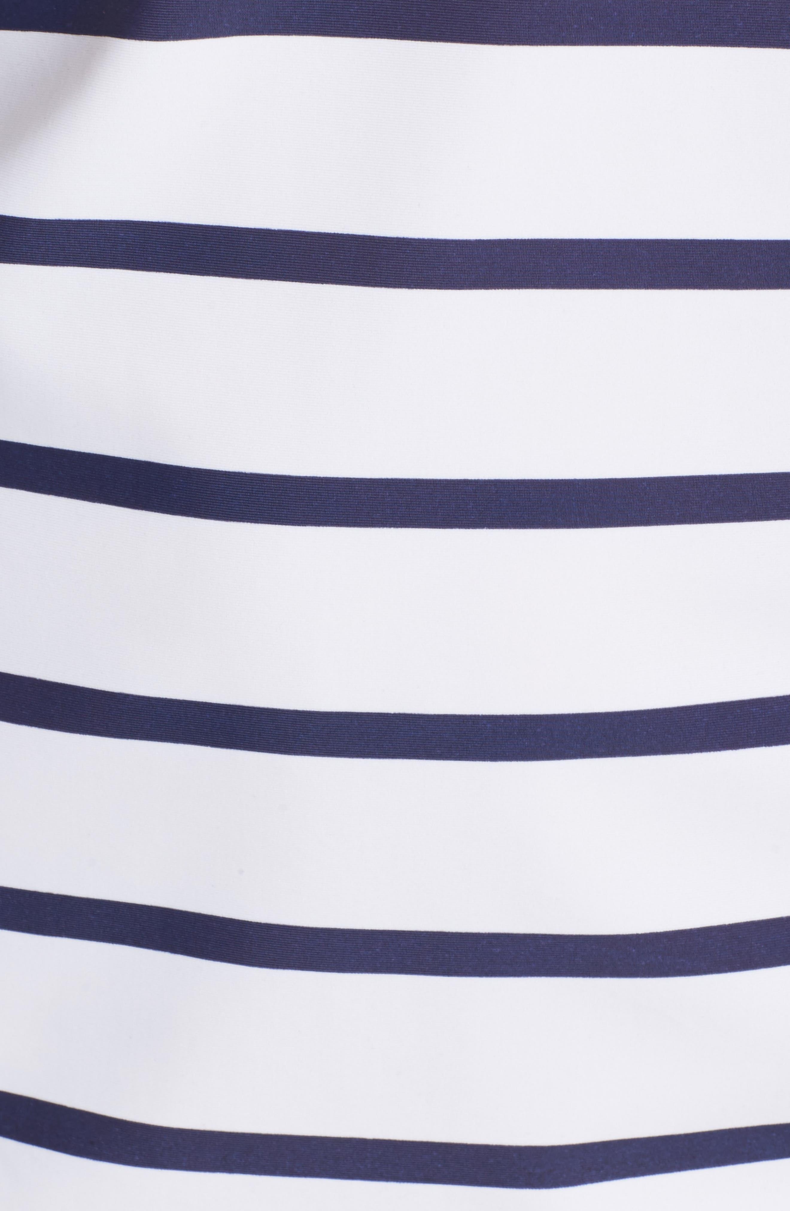 Sonja Stripe Cover-Up Swim Dress,                             Alternate thumbnail 5, color,                             400
