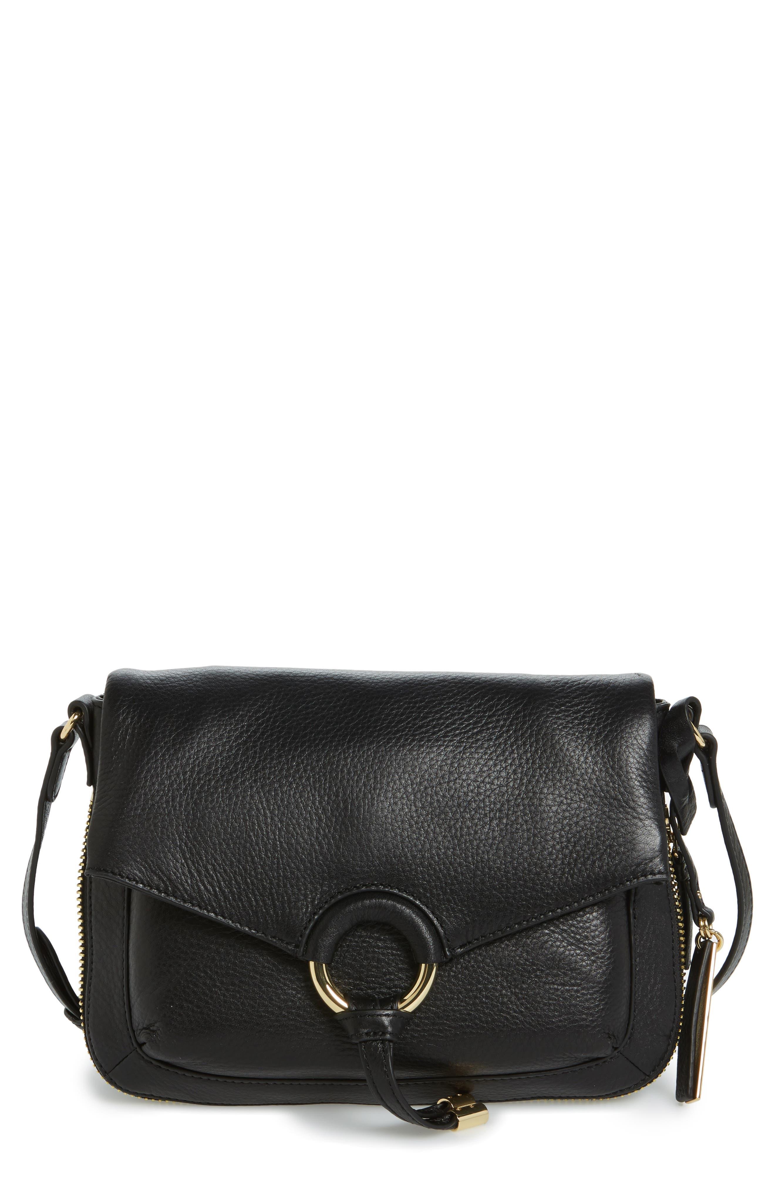 Adina Leather Crossbody Bag,                         Main,                         color, 001