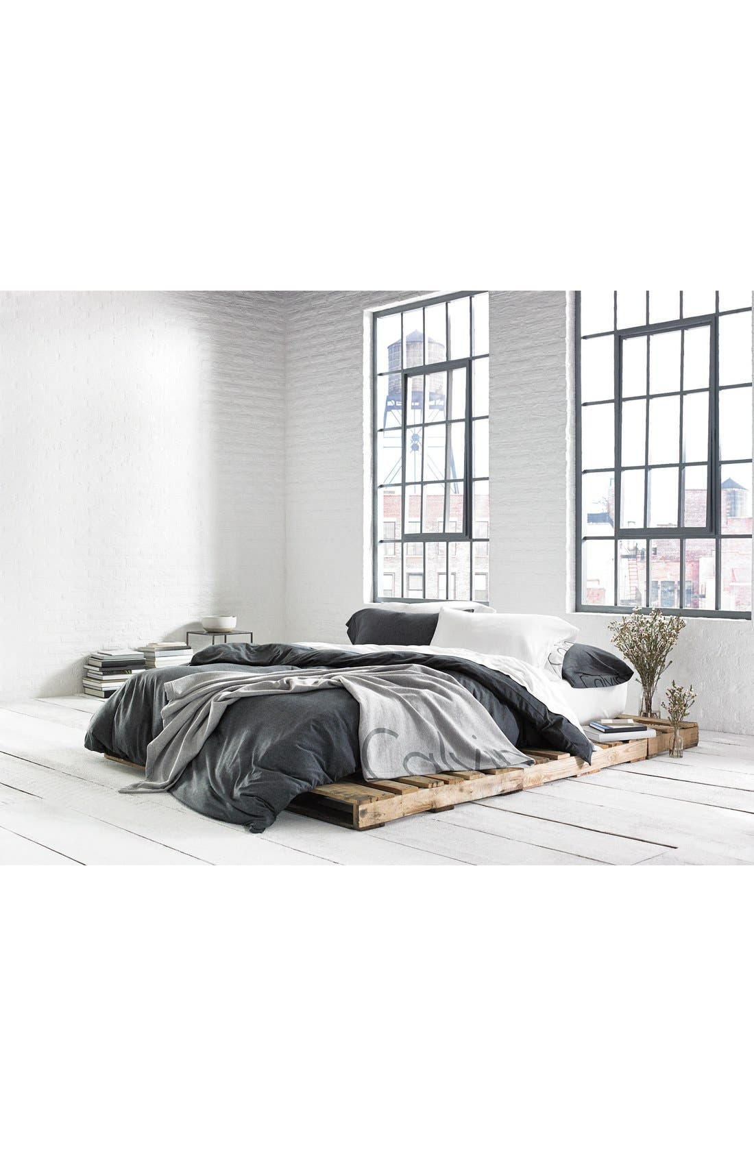 Modern Cotton Collection Cotton & Modal Fitted Sheet,                             Alternate thumbnail 5, color,                             WHITE