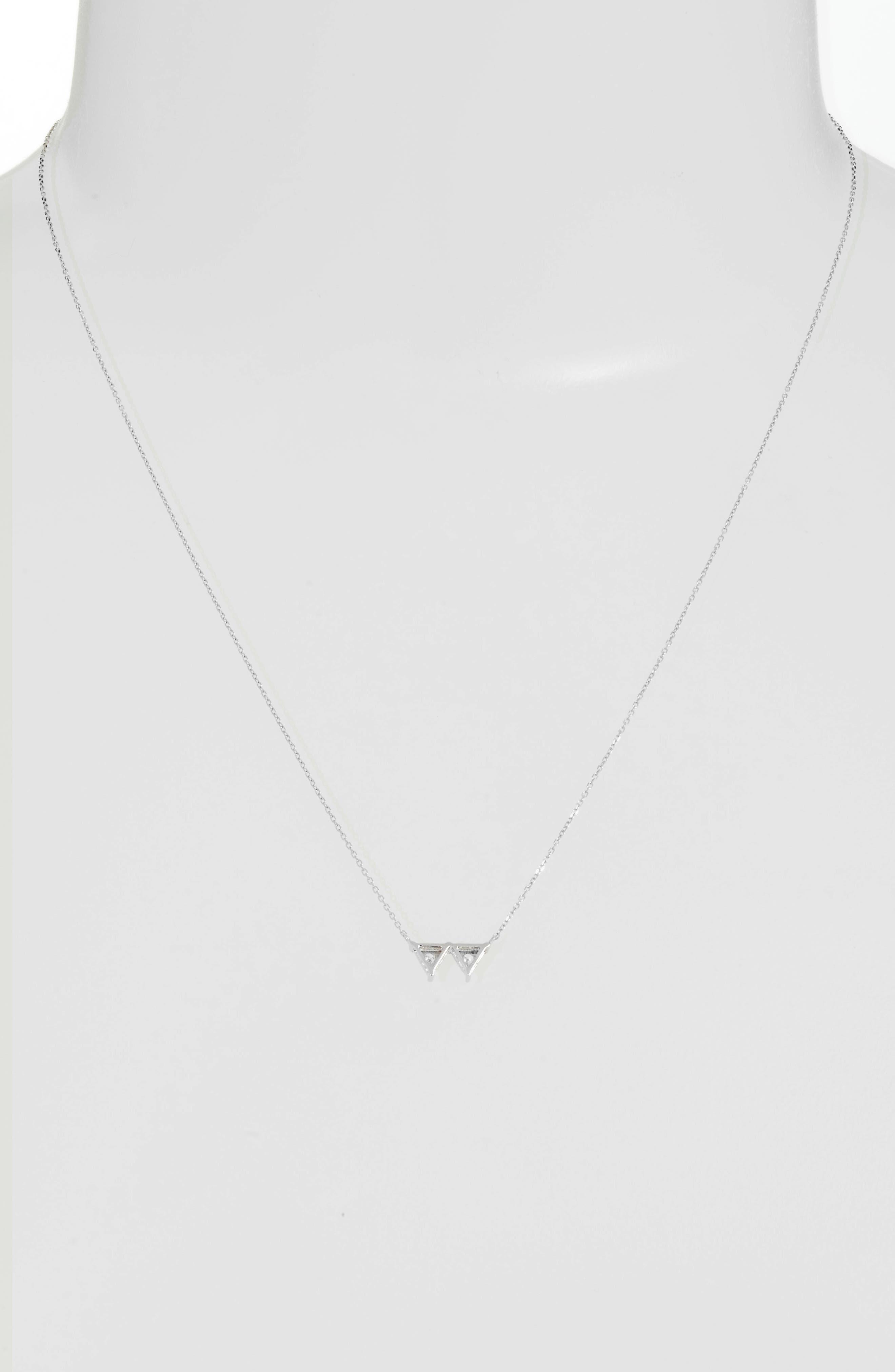 Emily Sarah Double Triangle Diamond Necklace,                             Alternate thumbnail 2, color,                             711