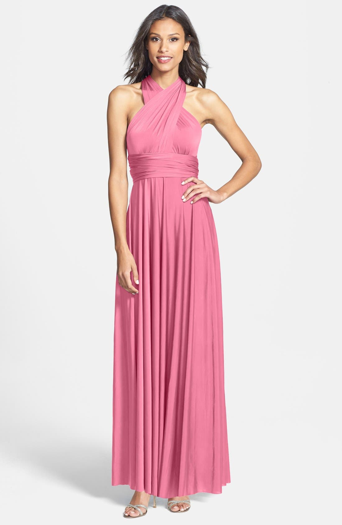 Convertible Wrap Tie Surplice Jersey Gown,                             Main thumbnail 9, color,