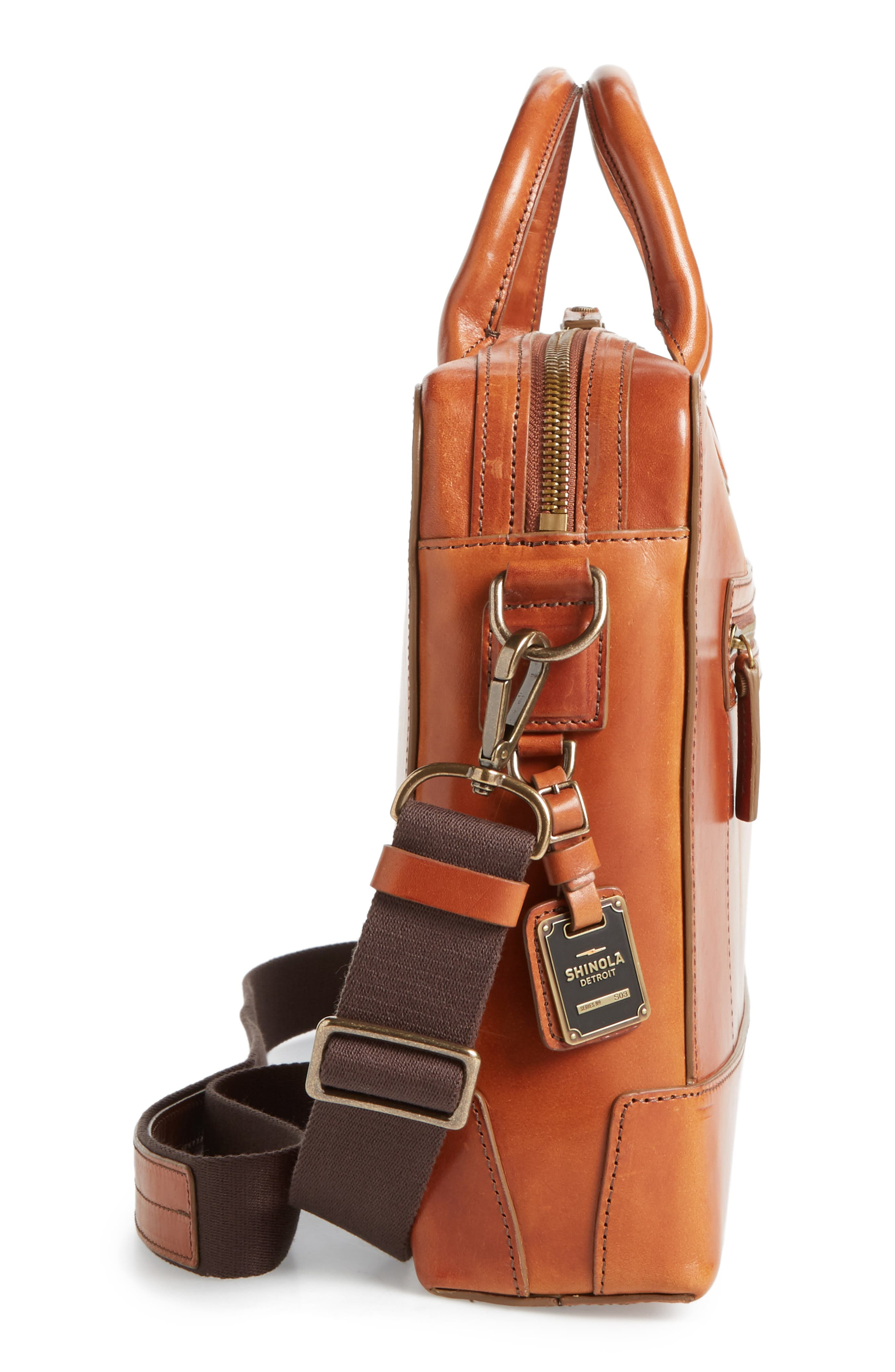 Harness Bedrock Leather Briefcase,                             Alternate thumbnail 5, color,                             220