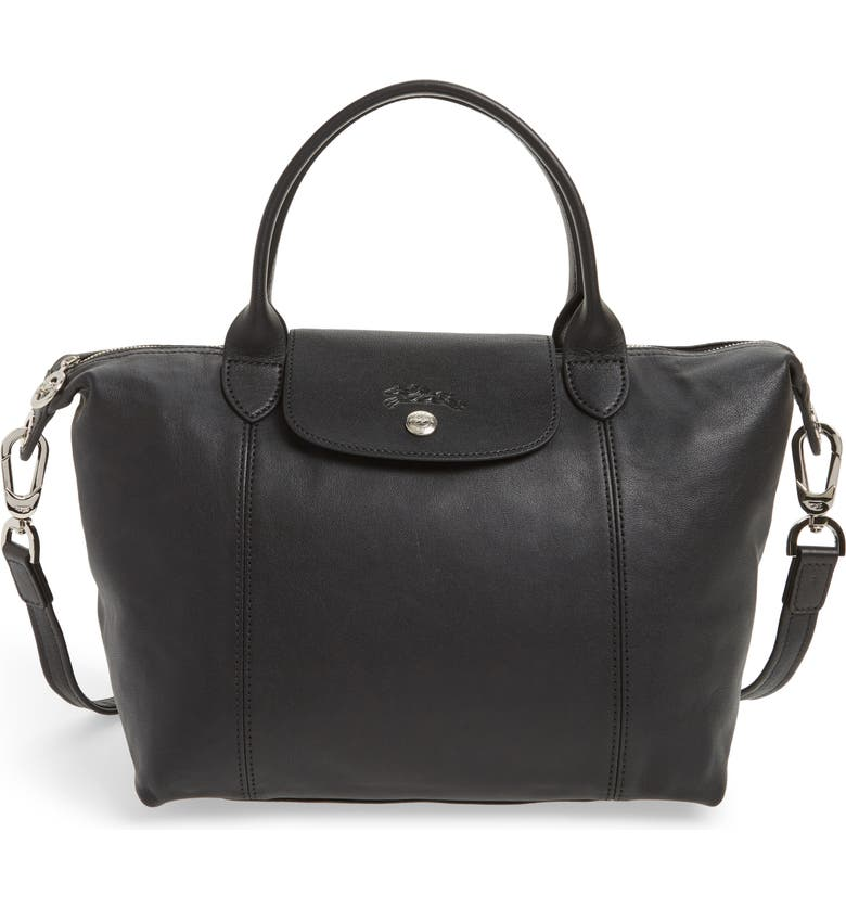 LONGCHAMP Small  Le Pliage Cuir  Leather Top Handle Tote, Main, color, 875bc84554