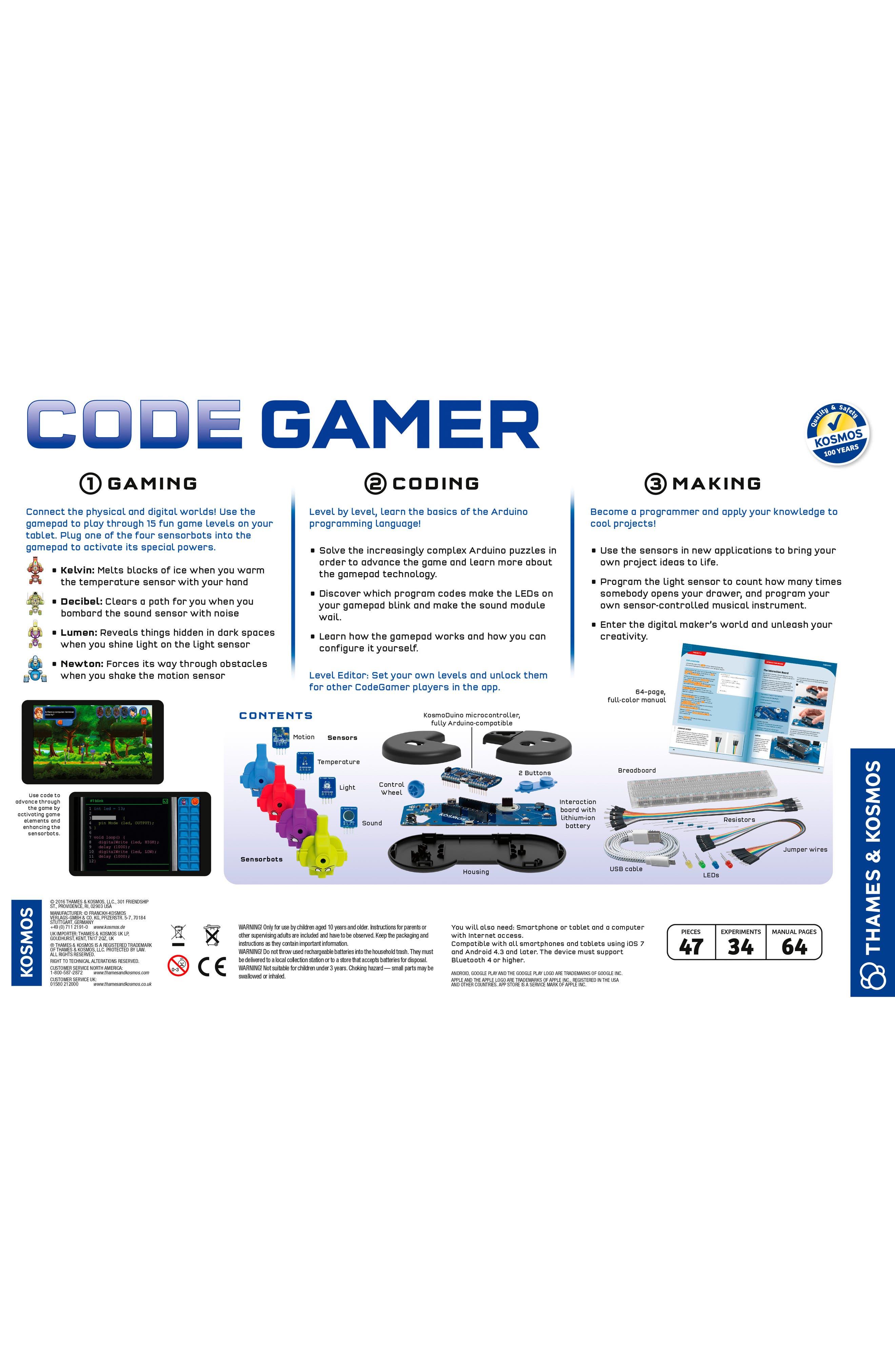 Code Gamer Experiment Kit,                             Alternate thumbnail 2, color,                             100