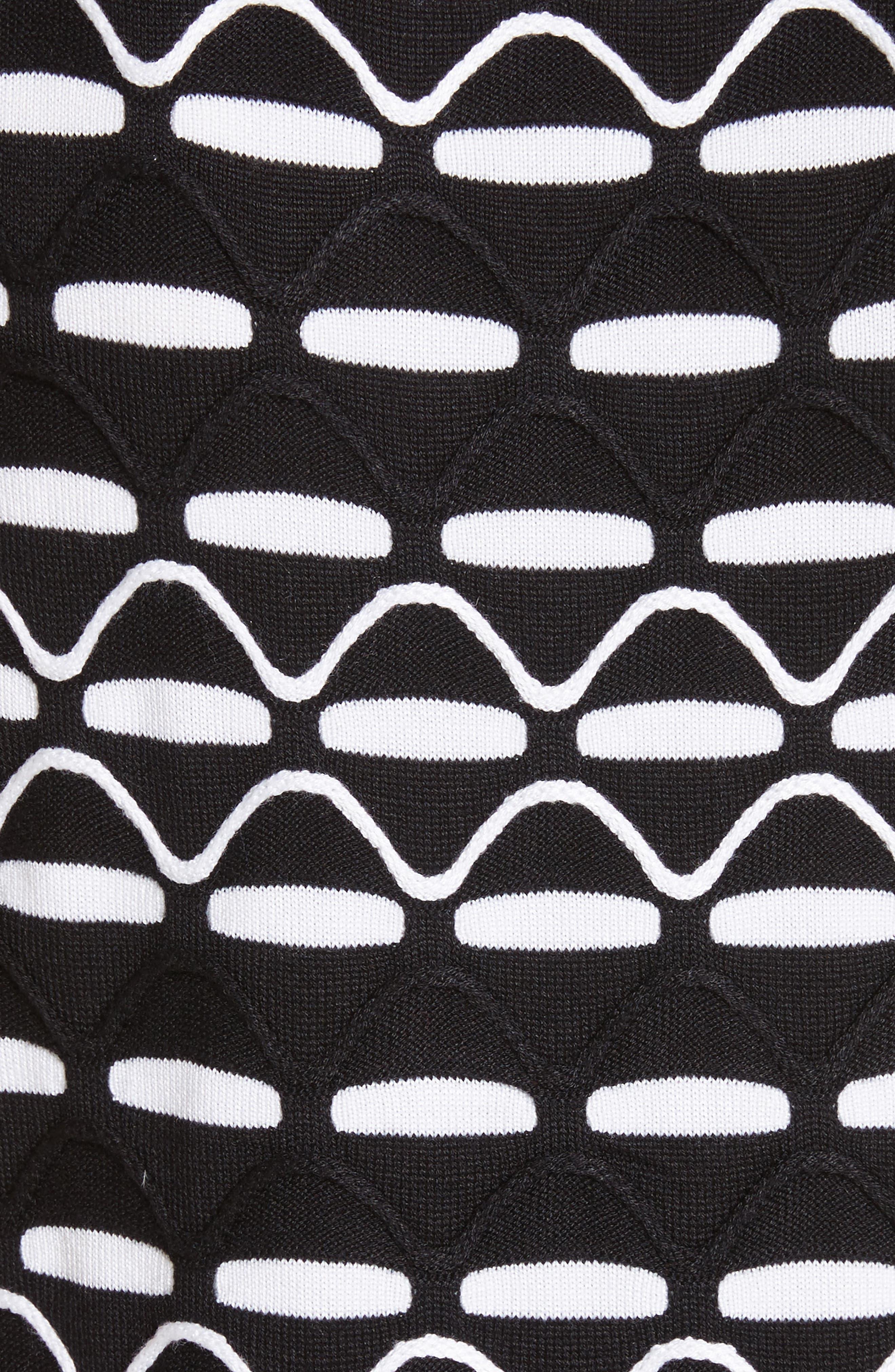 Textural Wave Knit Shell,                             Alternate thumbnail 5, color,                             001