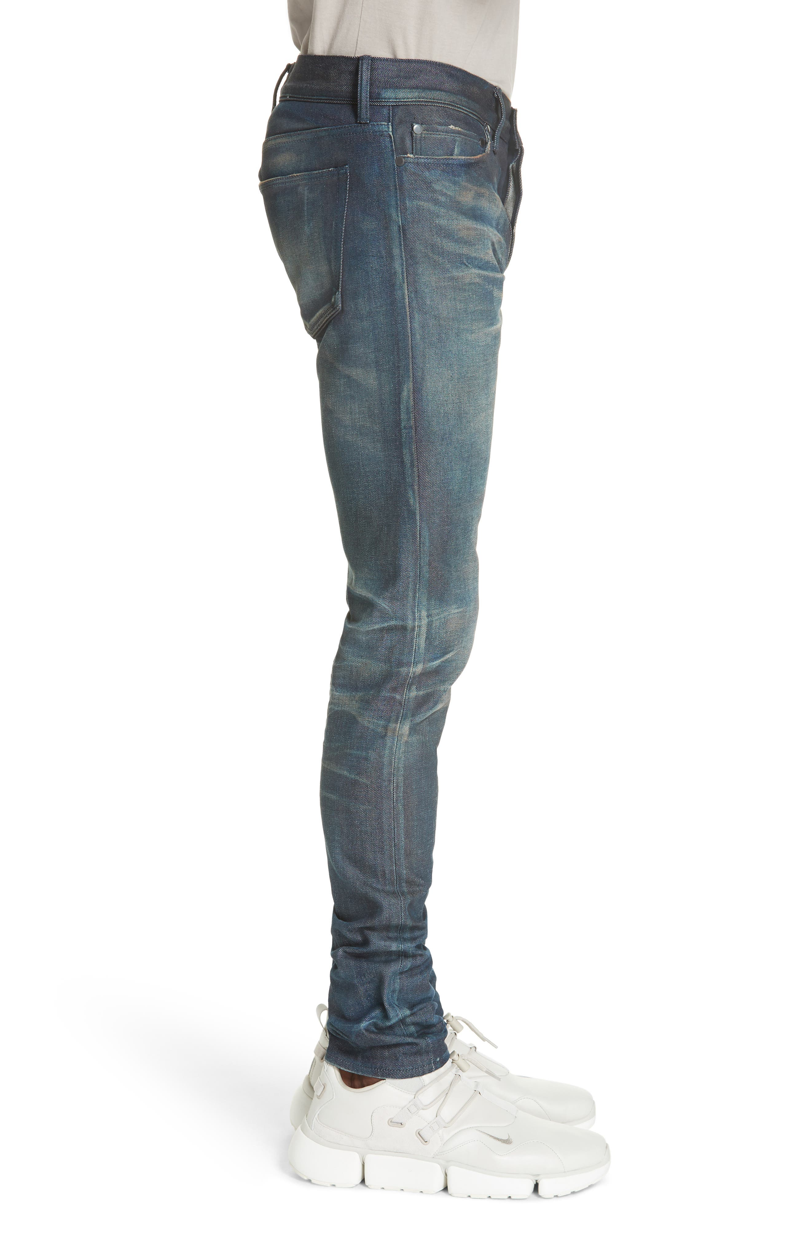 The Cast 2 Skinny Fit Jeans,                             Alternate thumbnail 3, color,                             BLUE