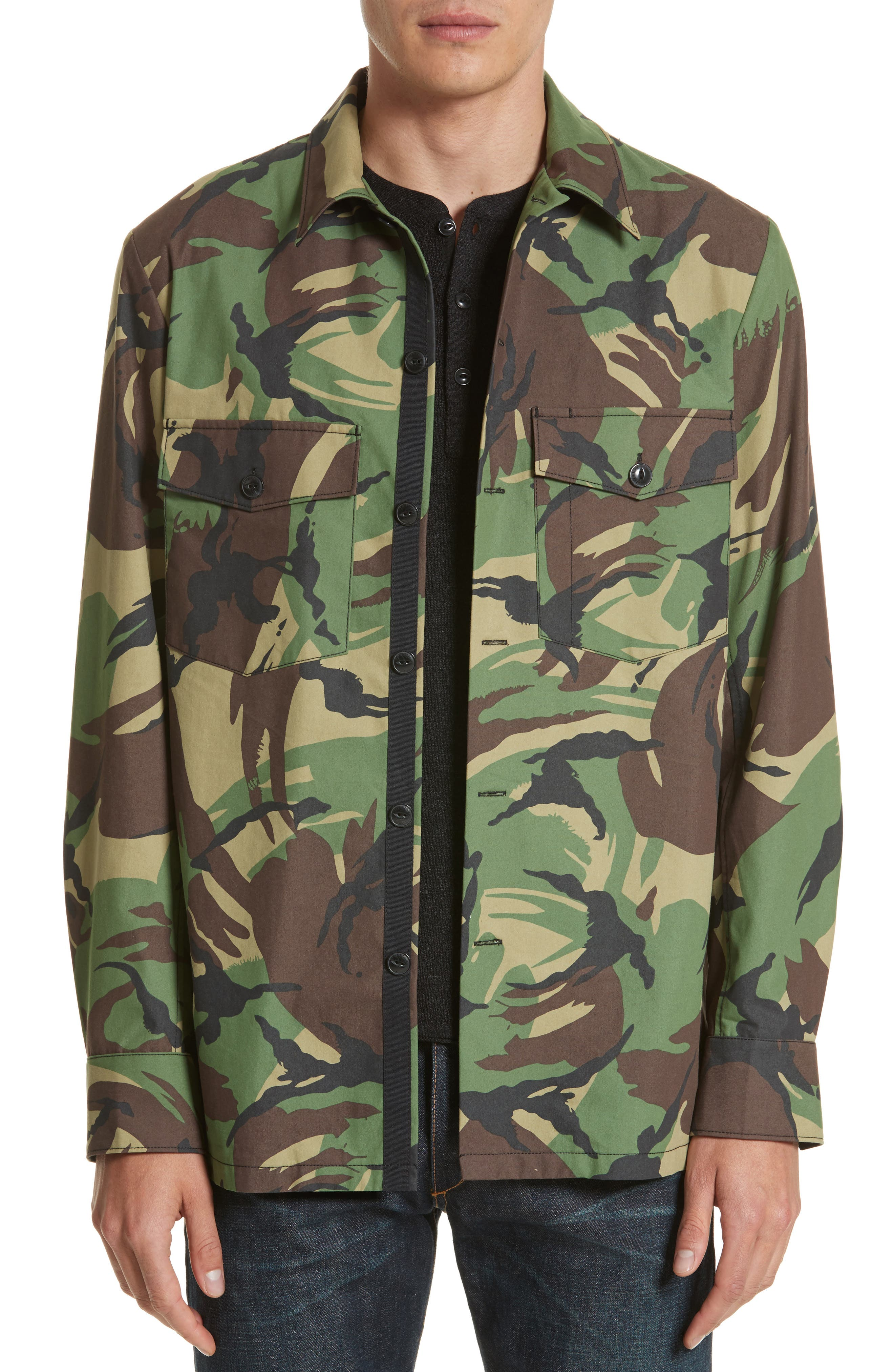 Heath Camo Shirt Jacket,                             Main thumbnail 1, color,
