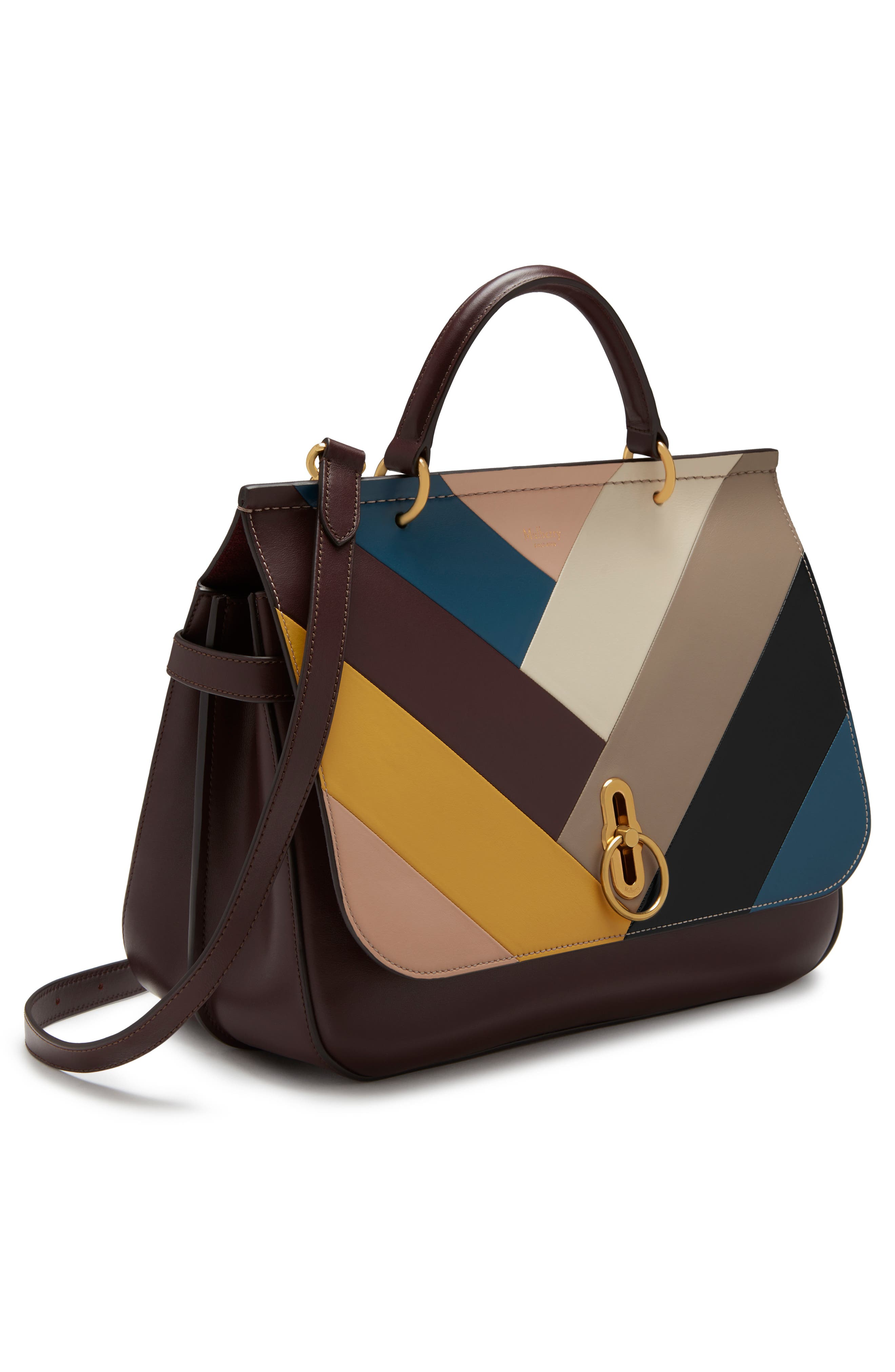 Amberley Colorblock Top Handle Bag,                             Alternate thumbnail 4, color,                             200
