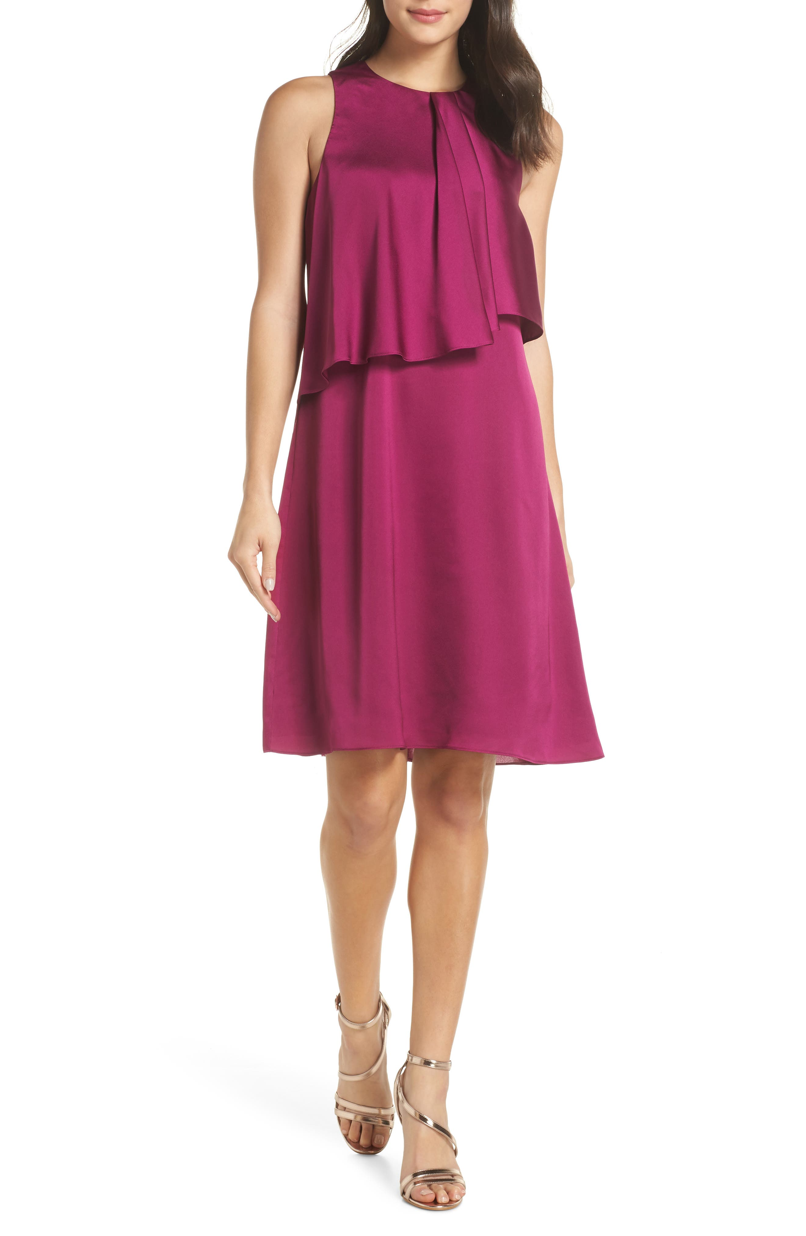 The Georgie Shift Dress, Main, color, BERRY