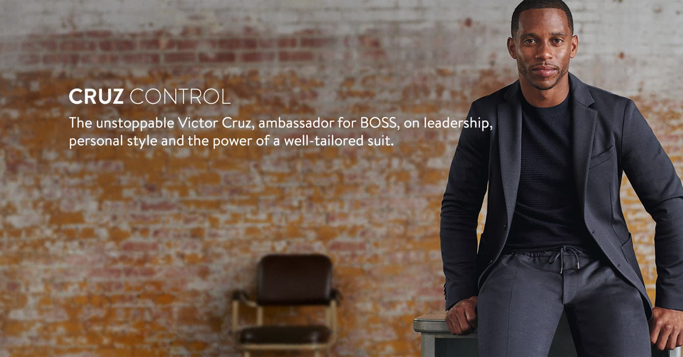 The unstoppable Victor Cruz, ambassador for BOSS, on leadership, personal style and the power of a well-tailored suit.