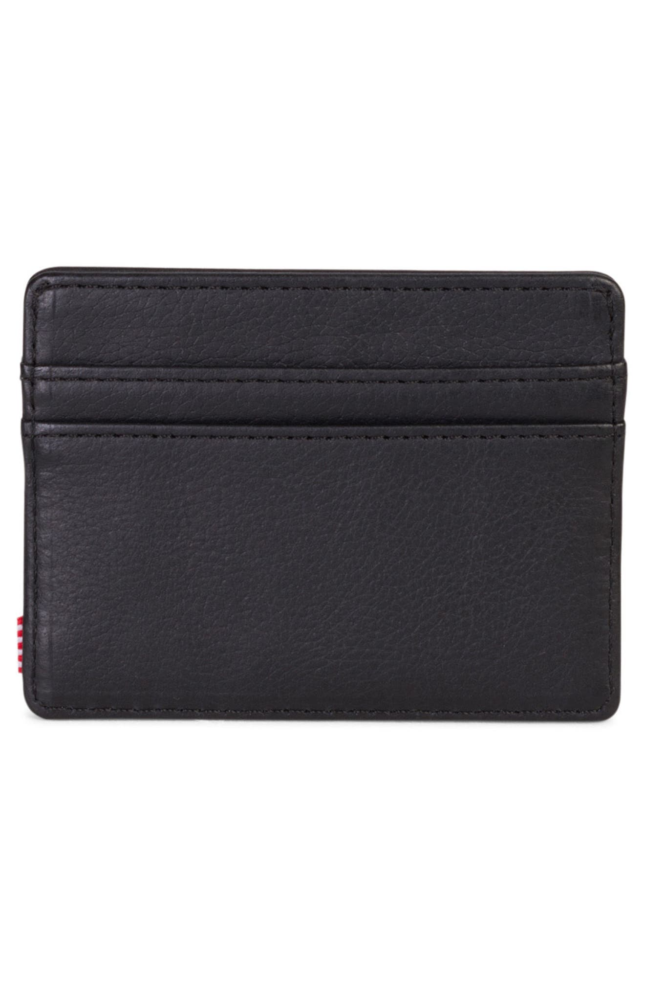 Charlie Leather Card Case,                             Alternate thumbnail 3, color,                             005