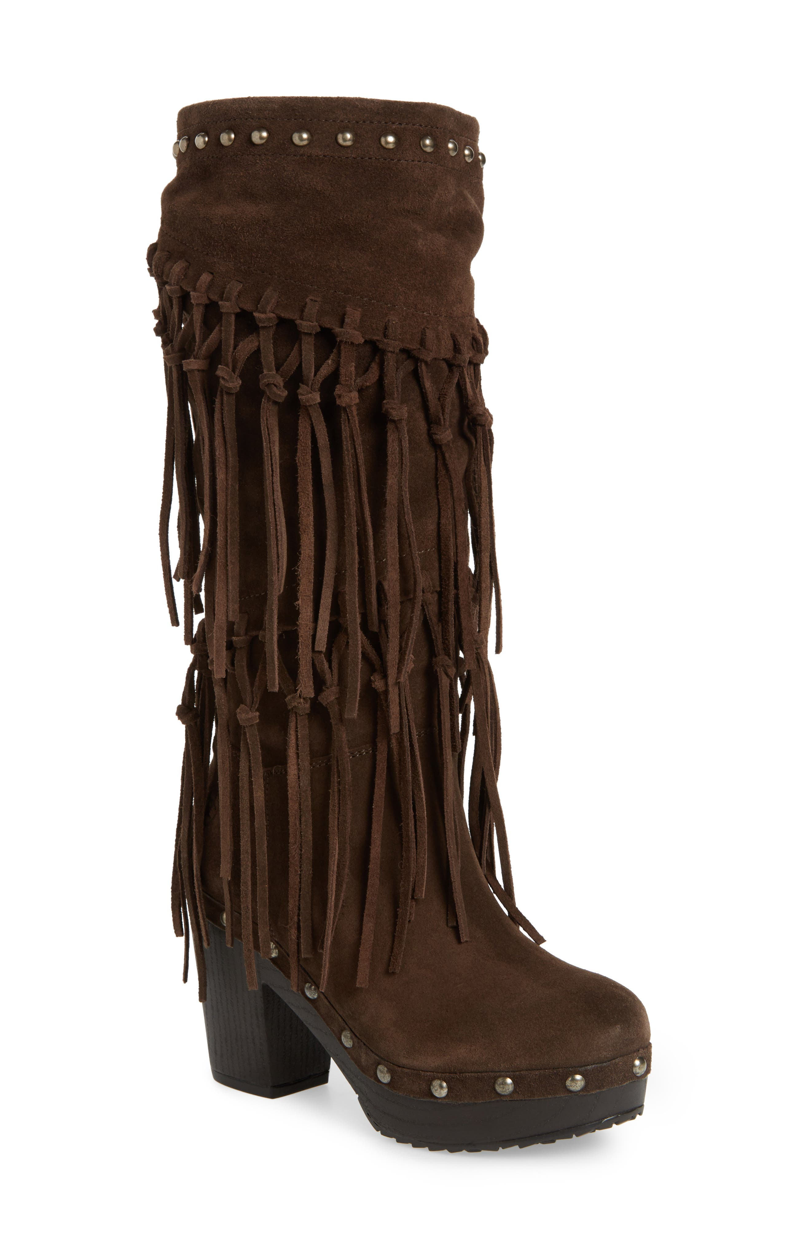 Music Row Fringe Boot,                         Main,                         color, 200