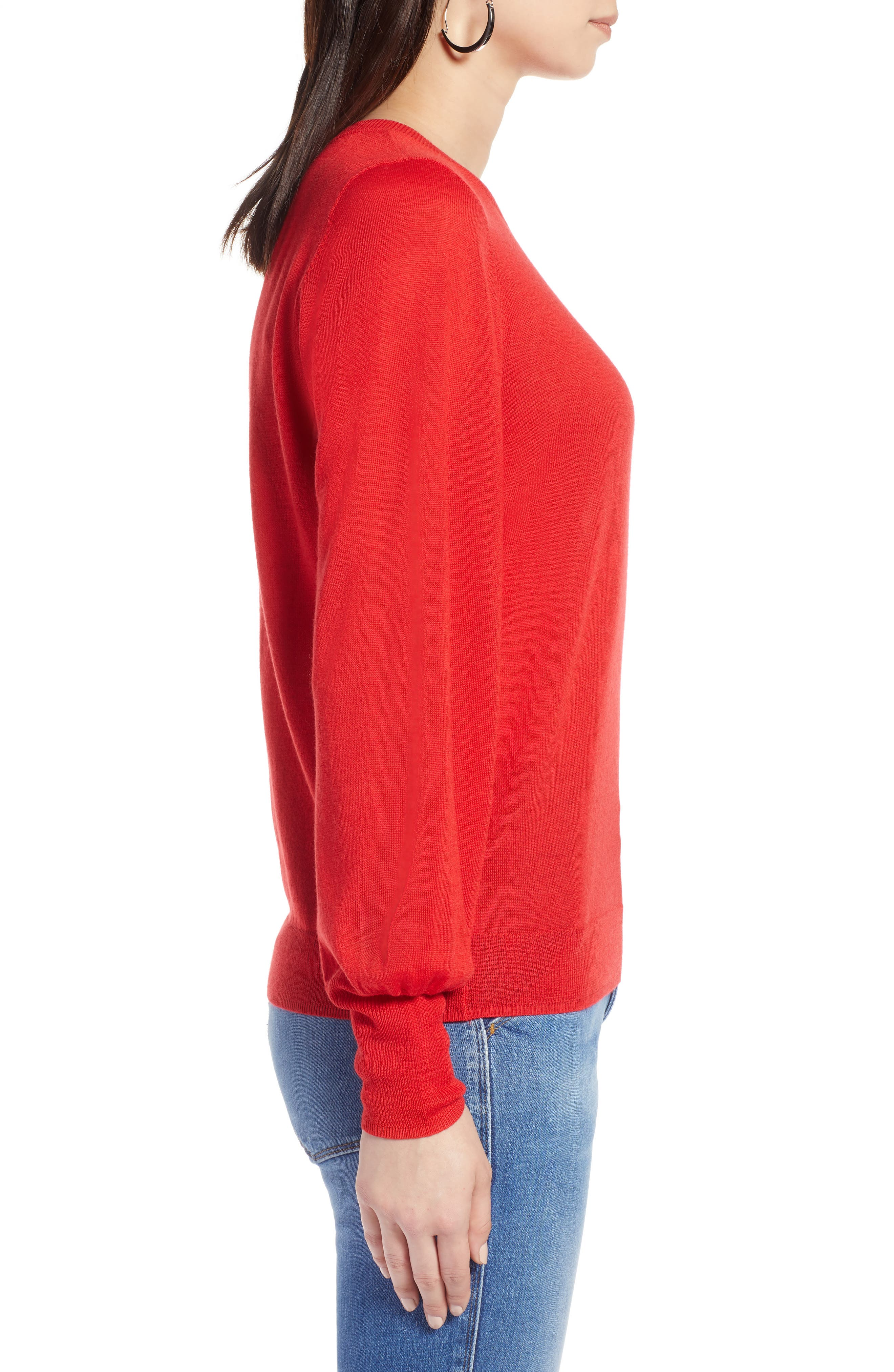 Puff Sleeve Sweater,                             Alternate thumbnail 29, color,