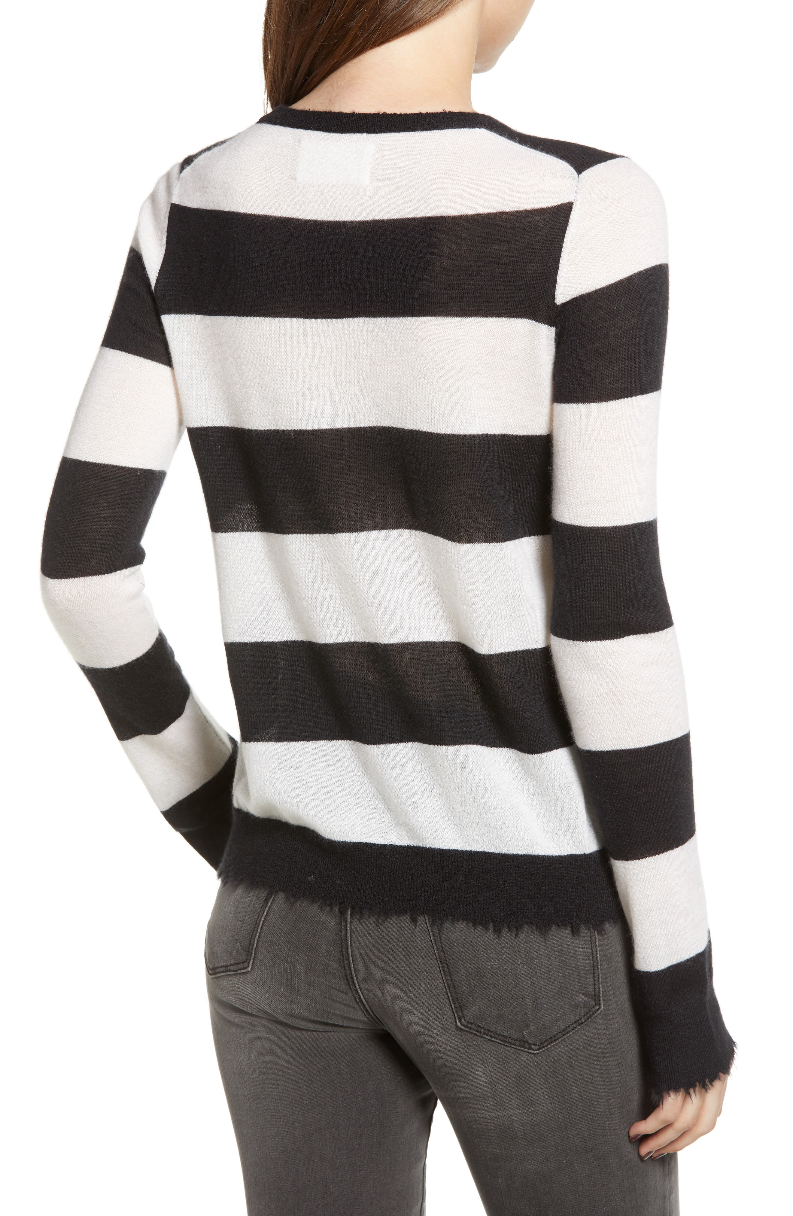 Source Stripe Cashmere Sweater,                             Alternate thumbnail 2, color,                             001