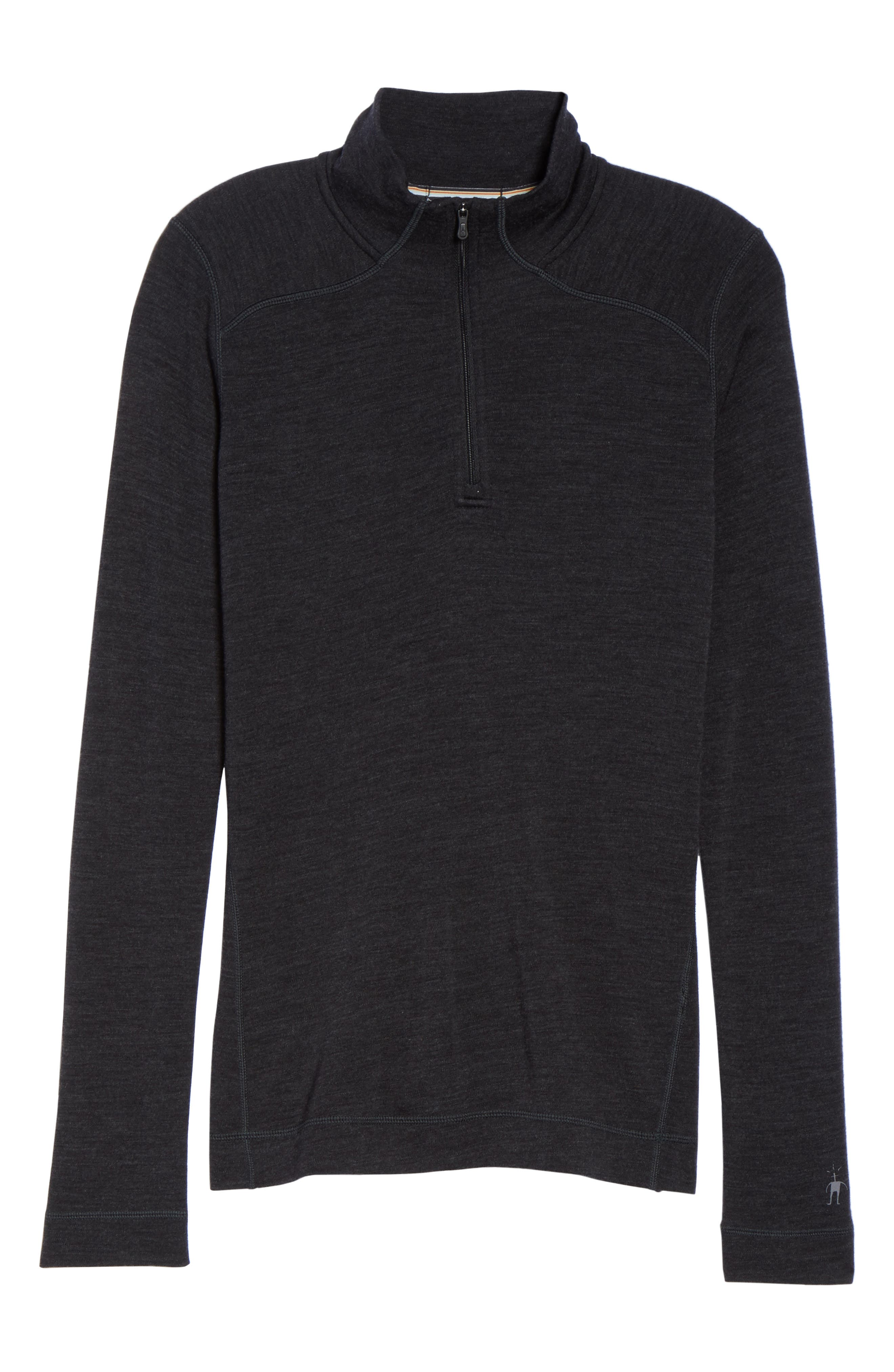 Merino 250 Base Pattern Layer Quarter Zip Top,                             Alternate thumbnail 7, color,                             CHARCOAL HEATHER
