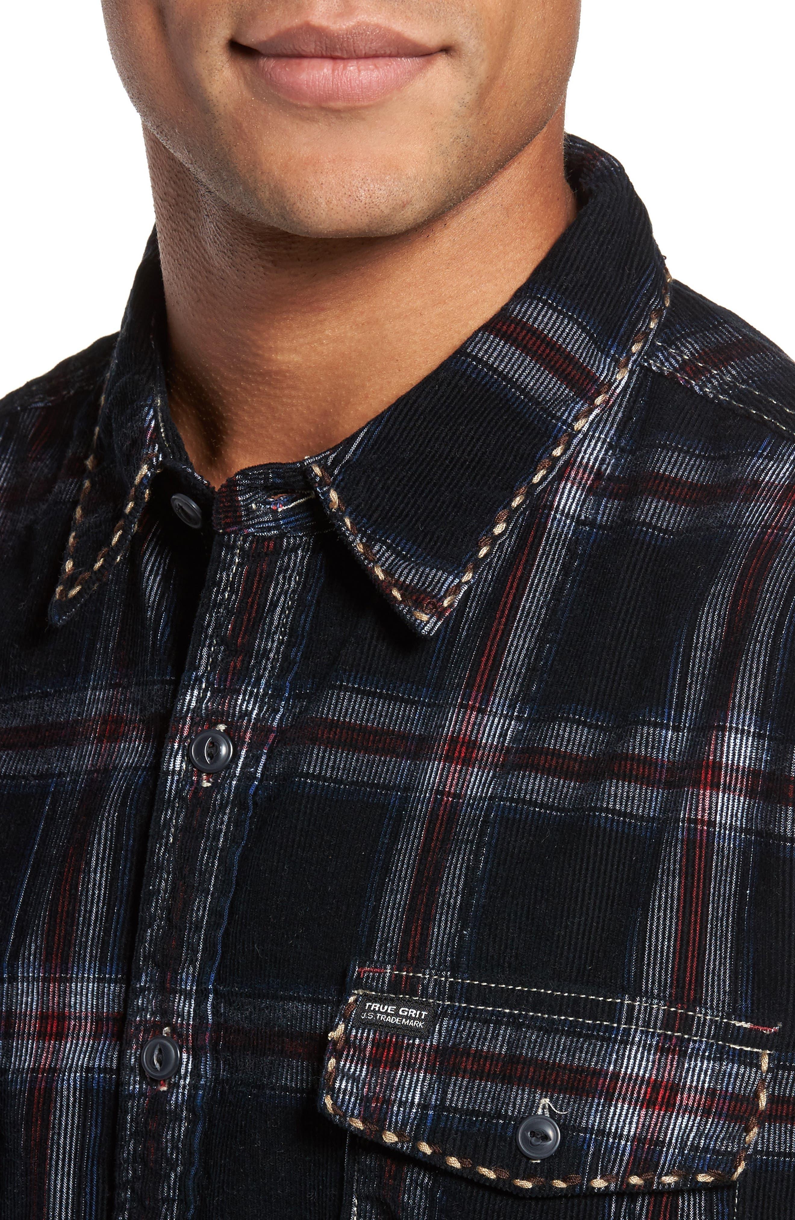 Summit Hunter Plaid Faux Shearling Lined Shirt Jacket,                             Alternate thumbnail 4, color,                             001