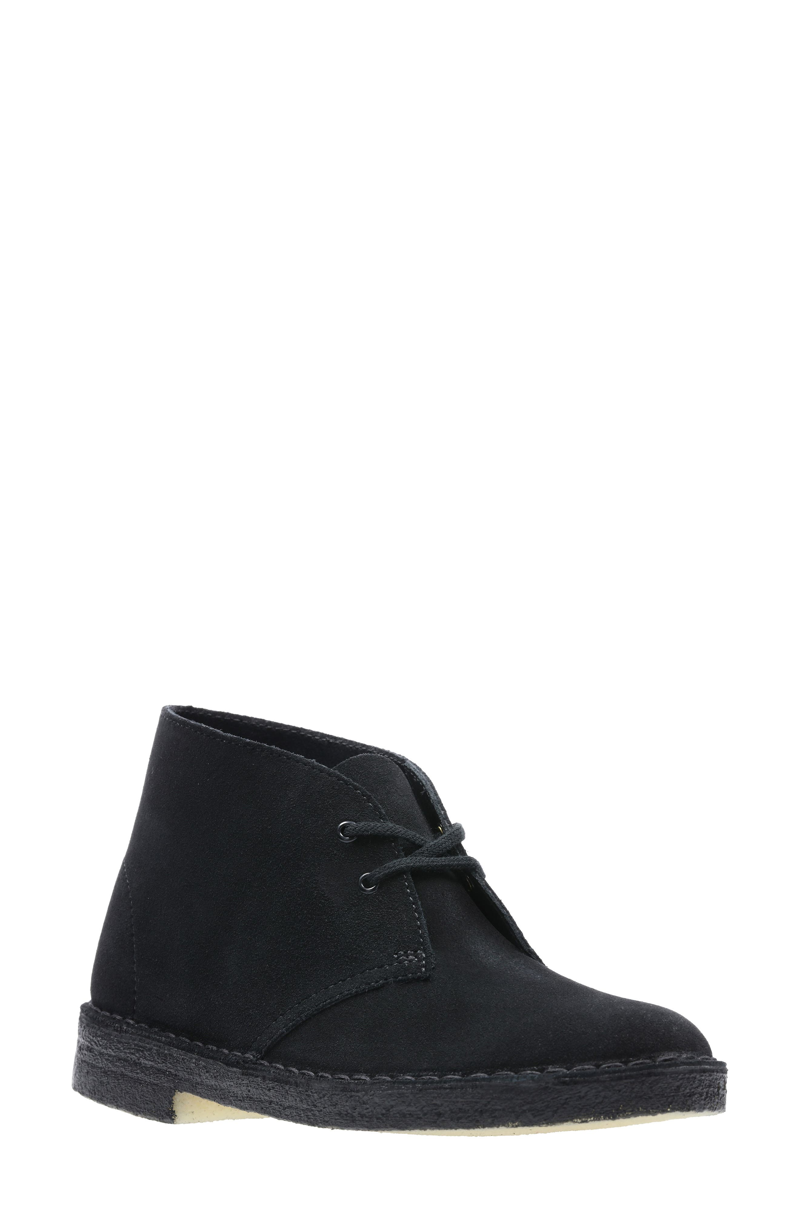 CLARKS<SUP>®</SUP> Desert ChukkaBoot, Main, color, BLACK SUEDE 2