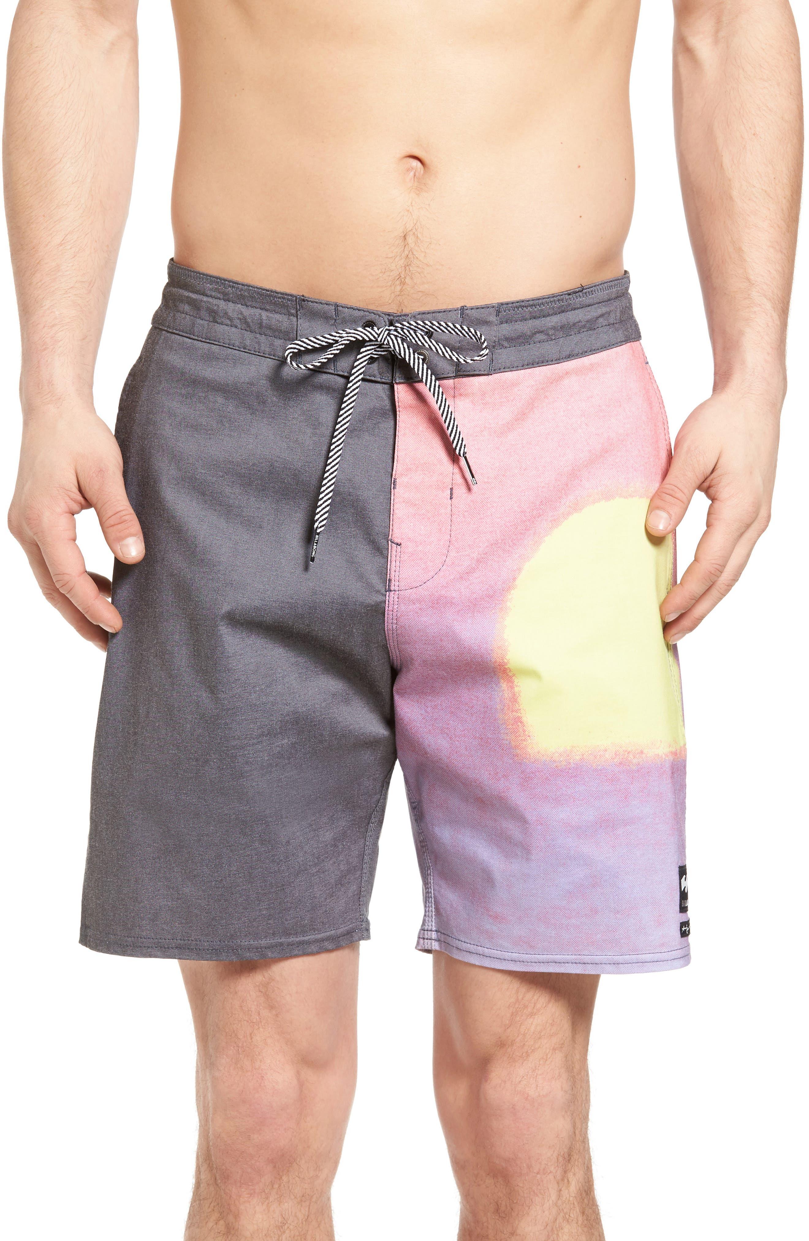 BILLABONG x Warhol Sunset Lo Tide Board Shorts, Main, color, 001