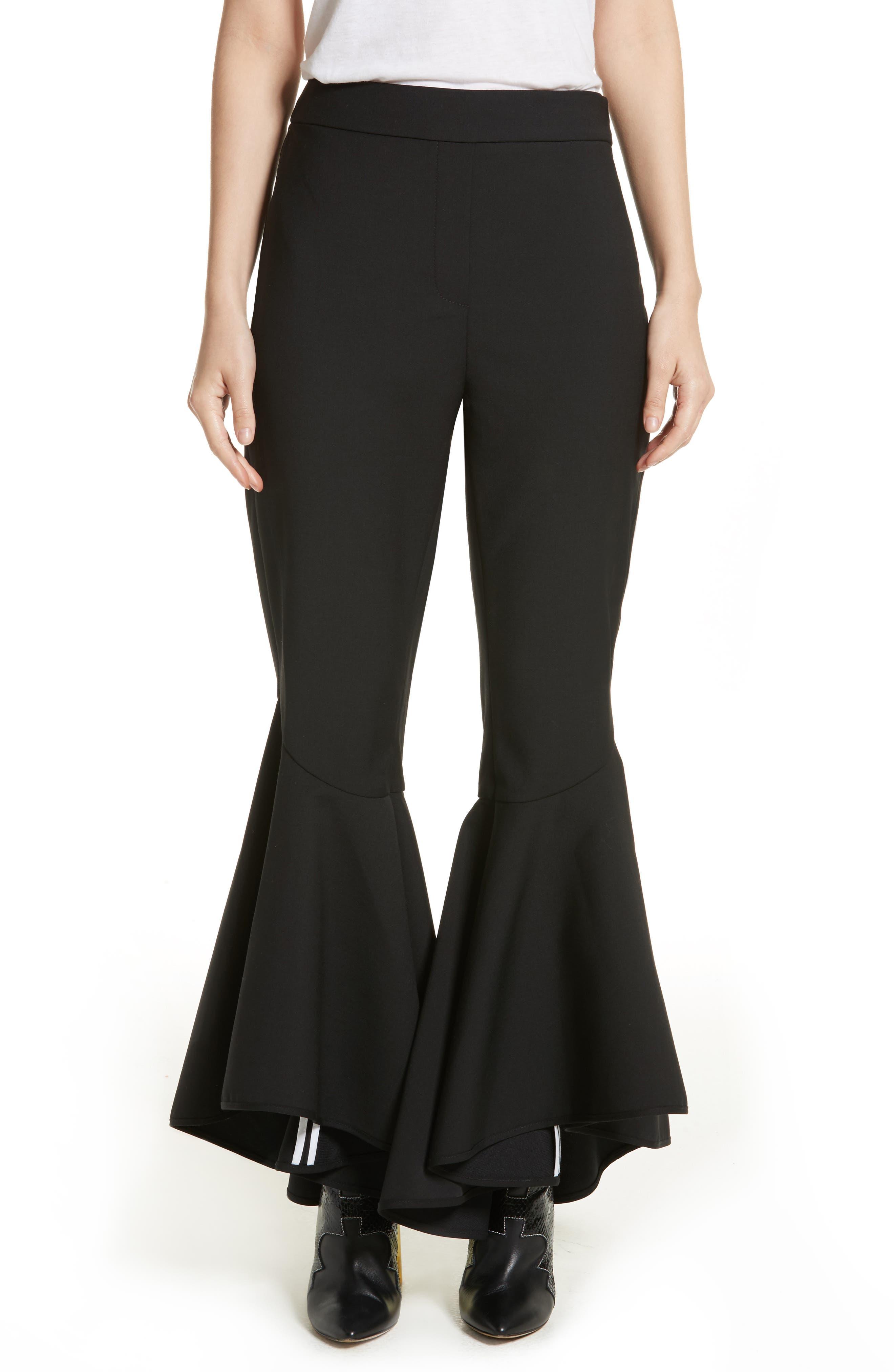 Sinuous Crop Flare Pants,                         Main,                         color, 001
