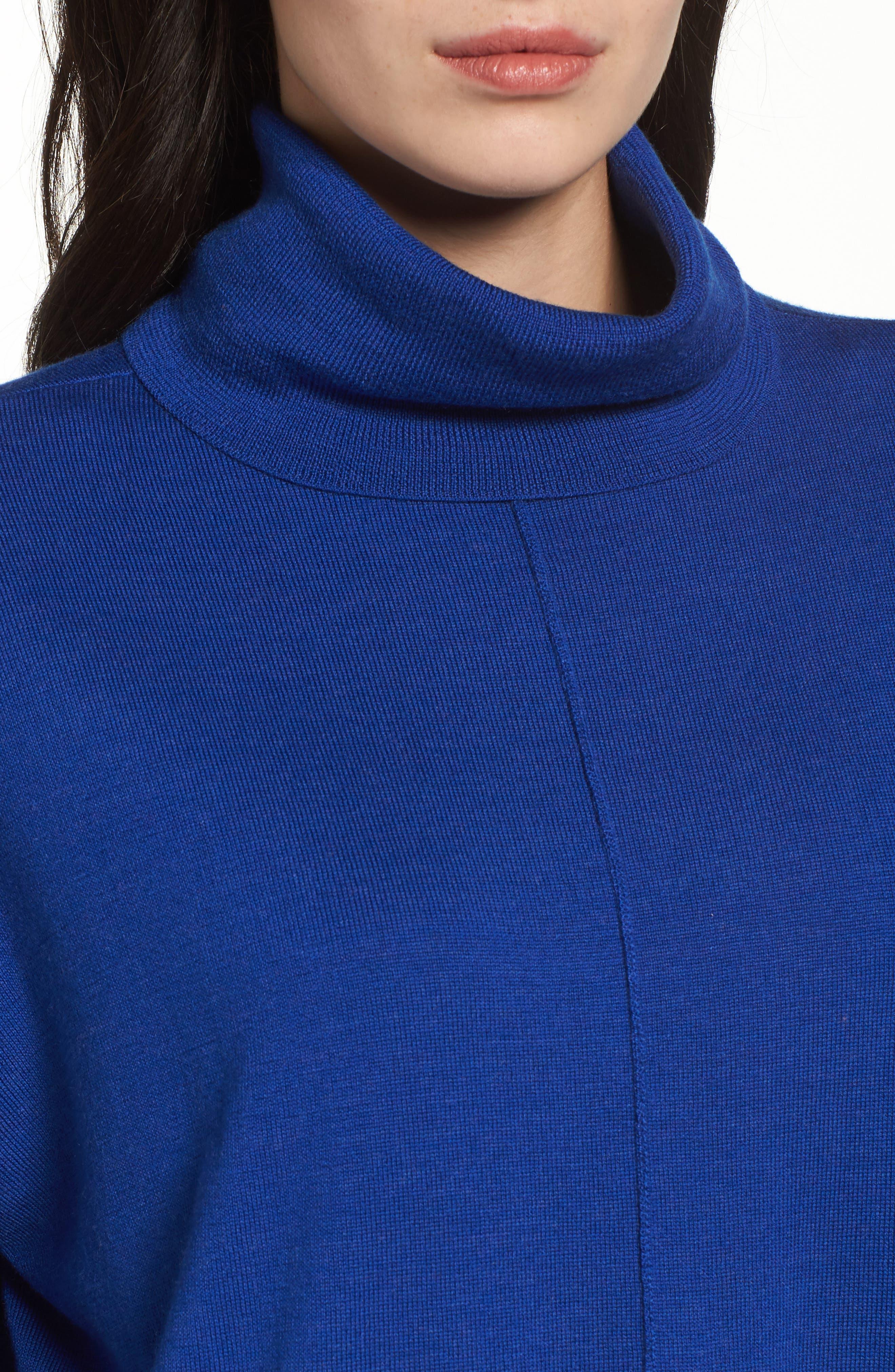 Merino Wool Boxy Turtleneck Sweater,                             Alternate thumbnail 22, color,