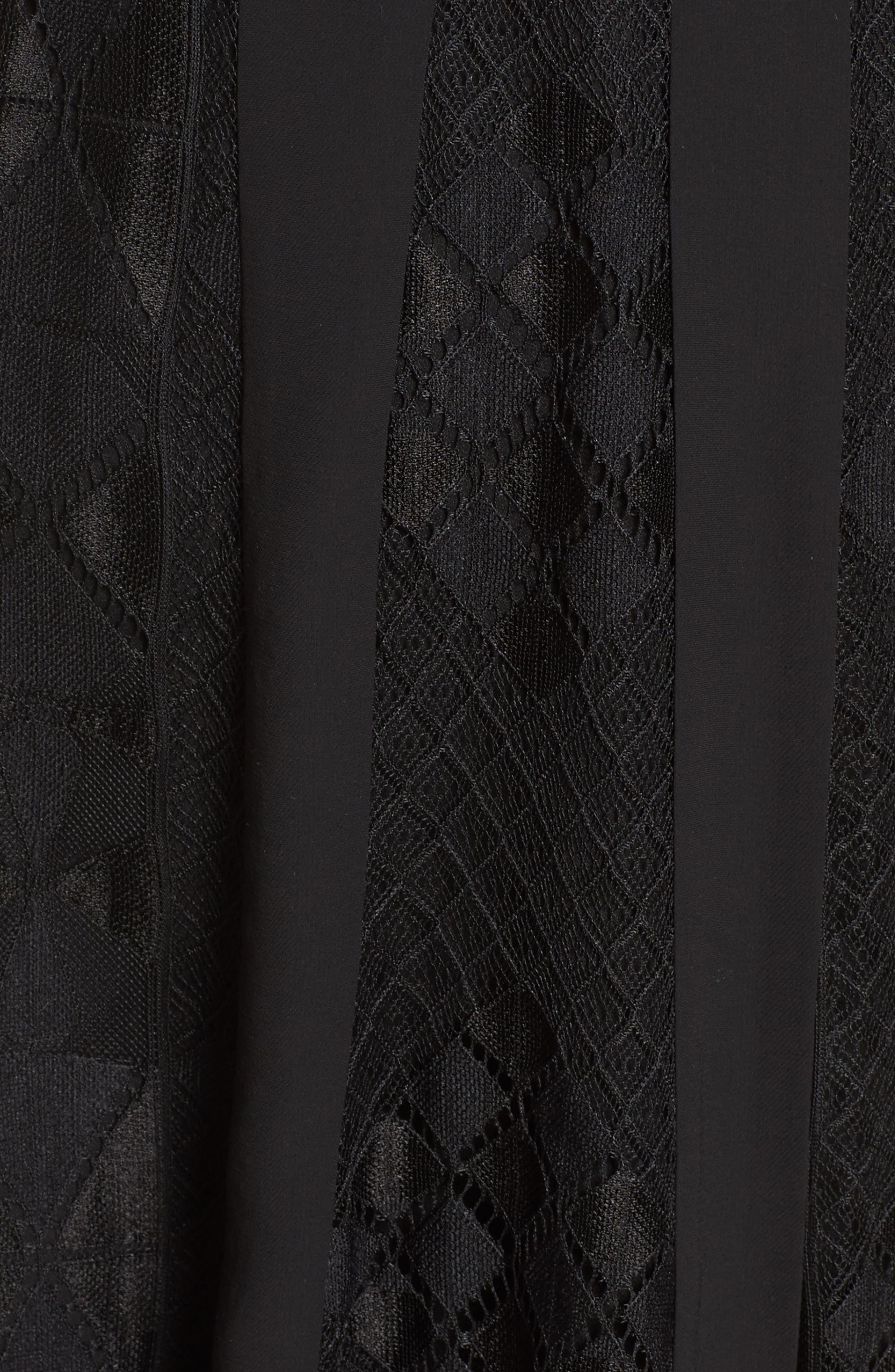 FOXIEDOX,                             Calla Lace Midi Dress,                             Alternate thumbnail 5, color,                             001