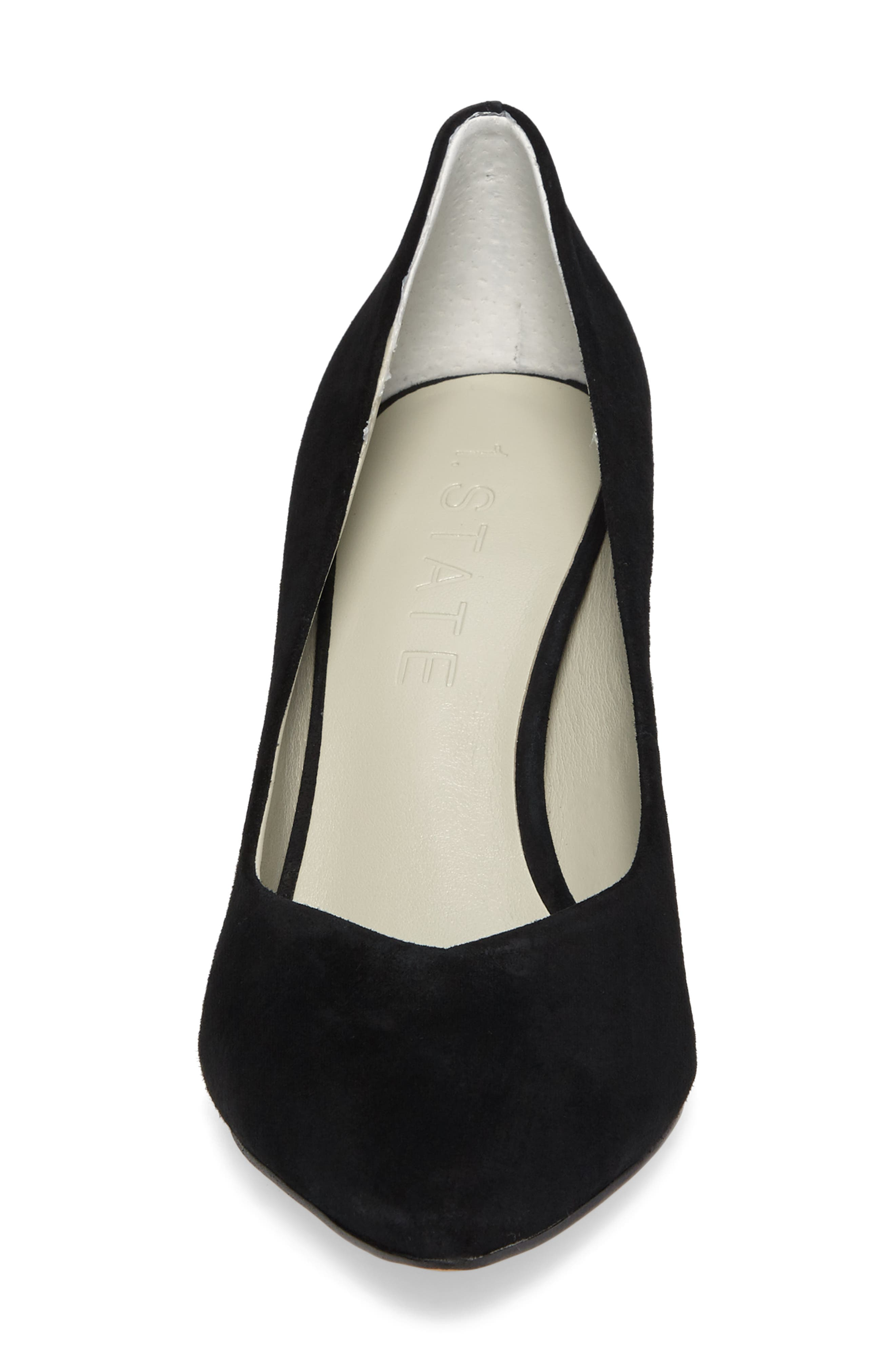 Saffy Block Heel Pump,                             Alternate thumbnail 4, color,                             001
