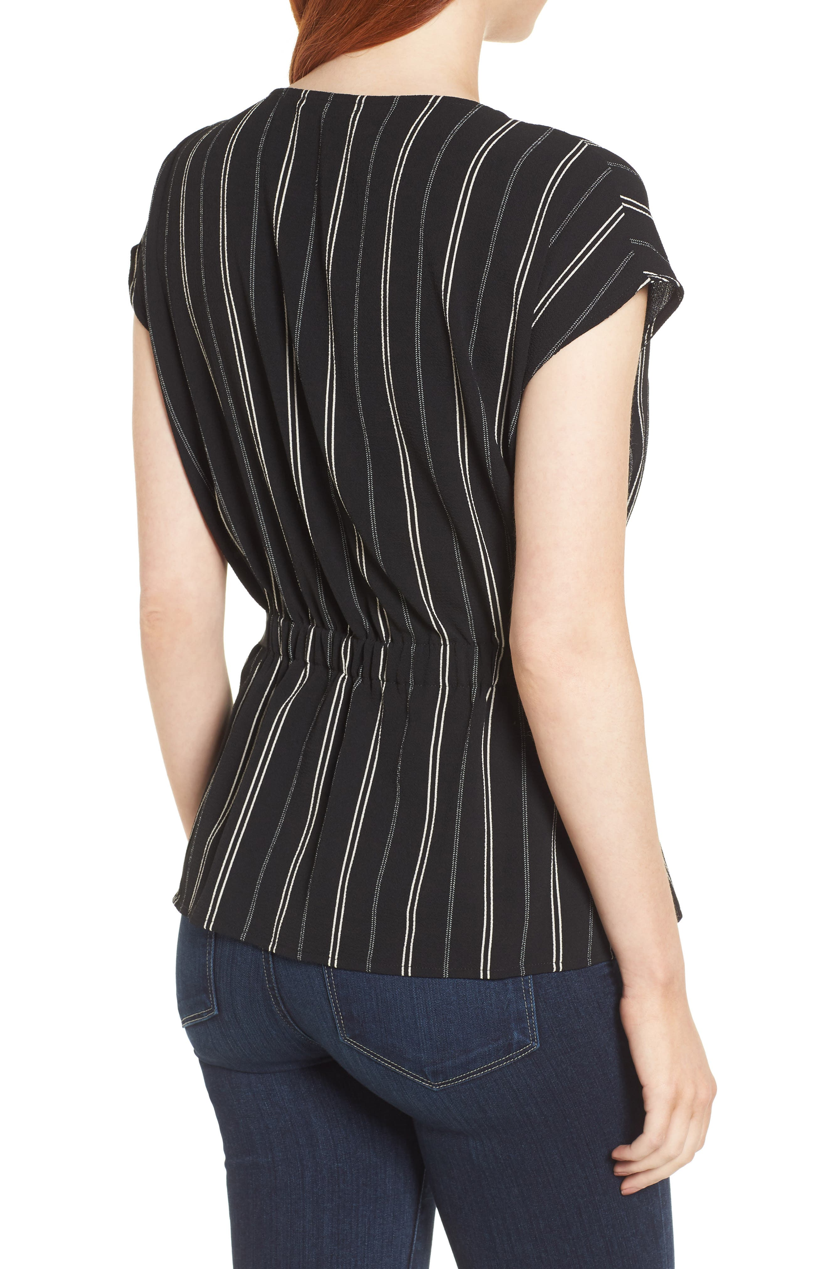Gathered Waist Side Tie Top,                             Alternate thumbnail 2, color,                             013