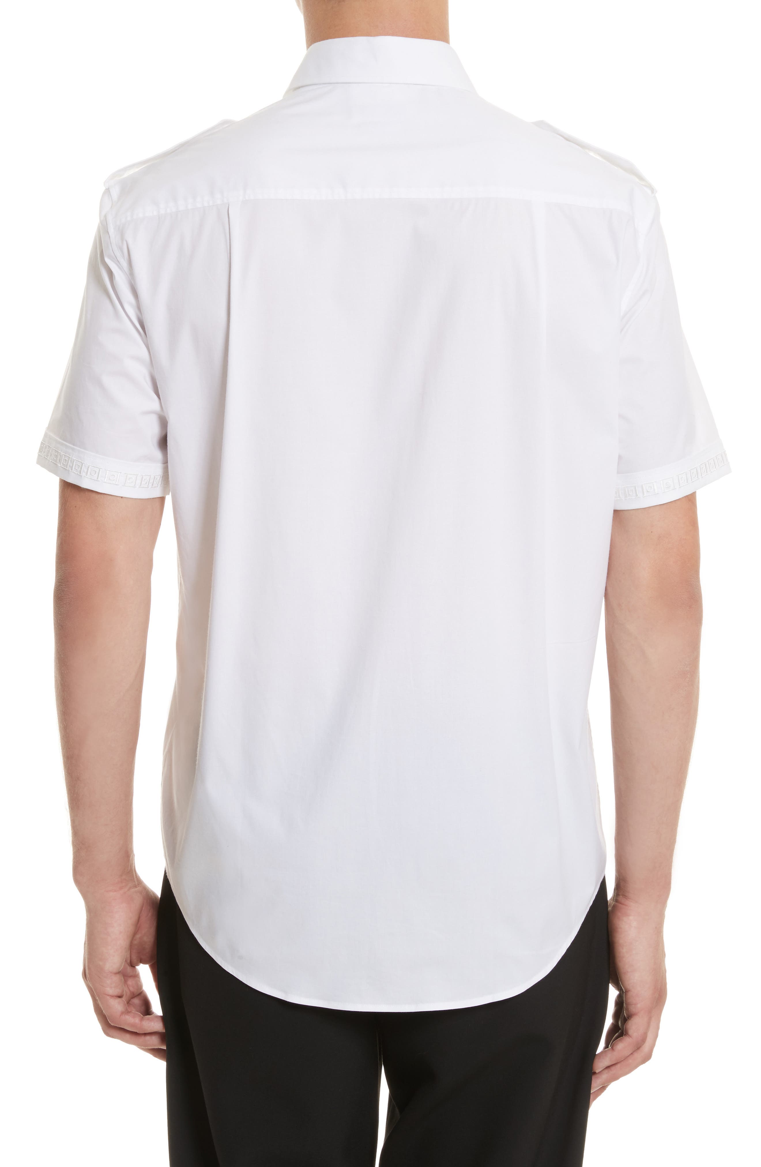 Short Sleeve Military Shirt,                             Alternate thumbnail 2, color,                             100