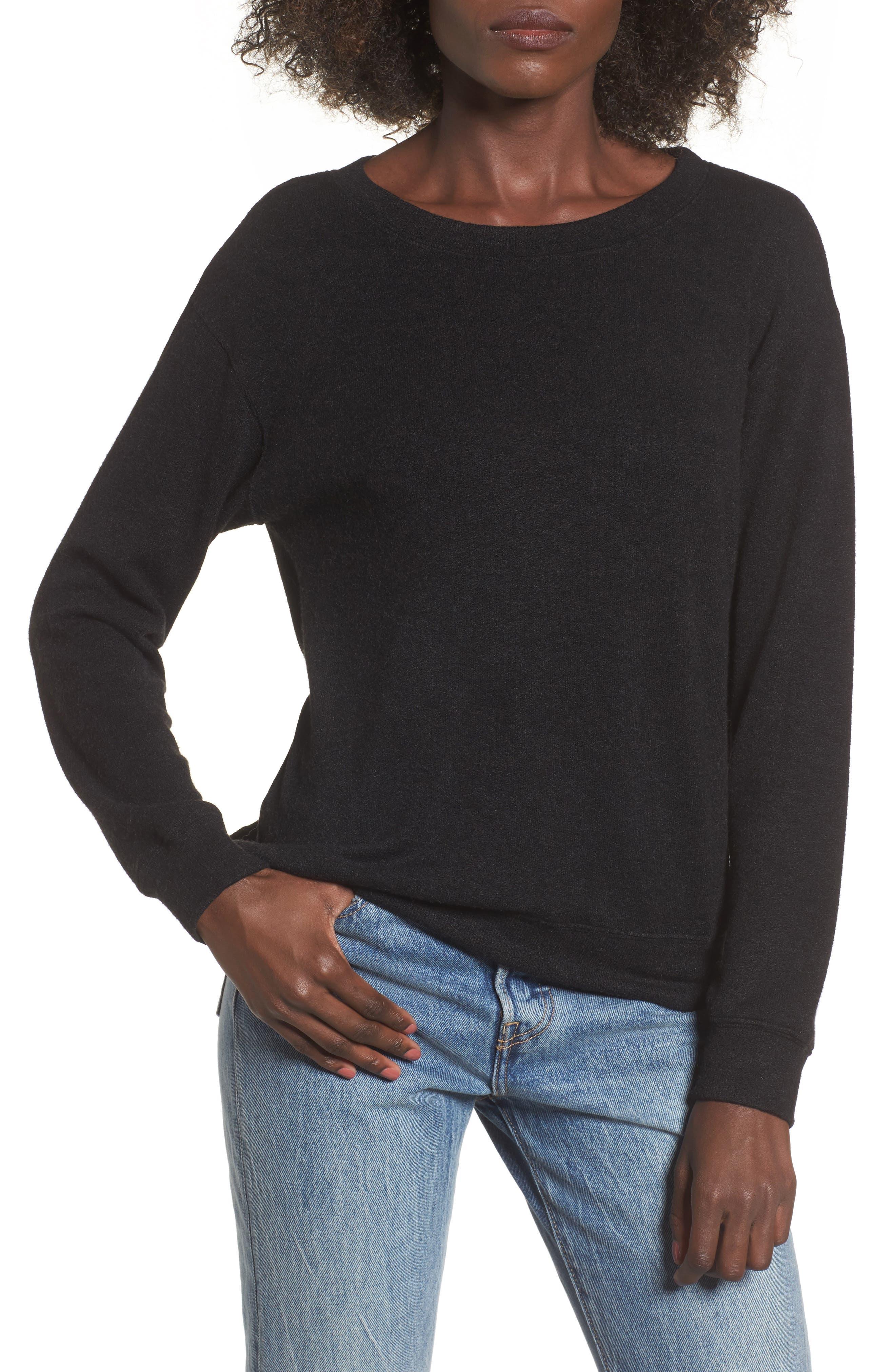 Phoebe Fleece Sweatshirt,                             Main thumbnail 1, color,