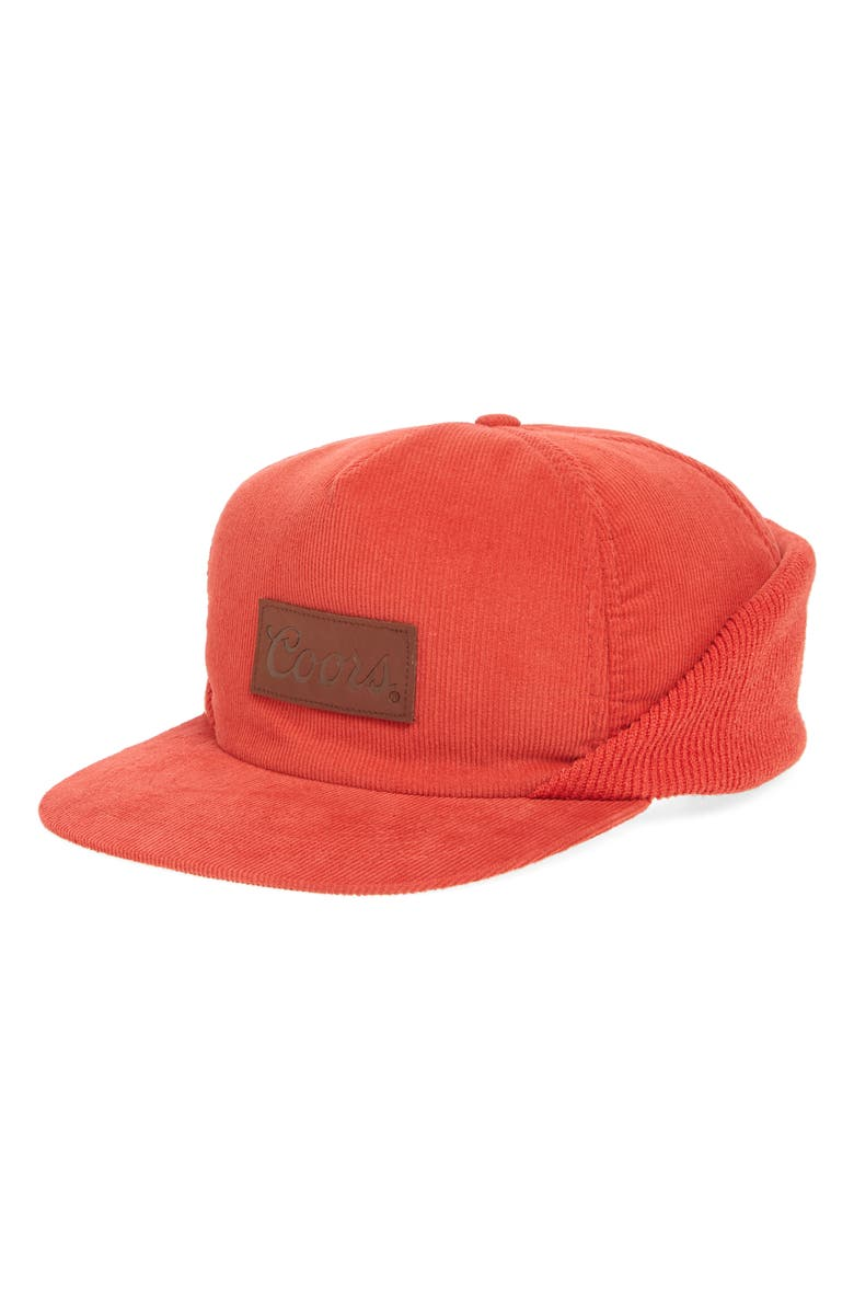 ee1060ed3dd Brixton Coors Signature Corduroy Cap In Red