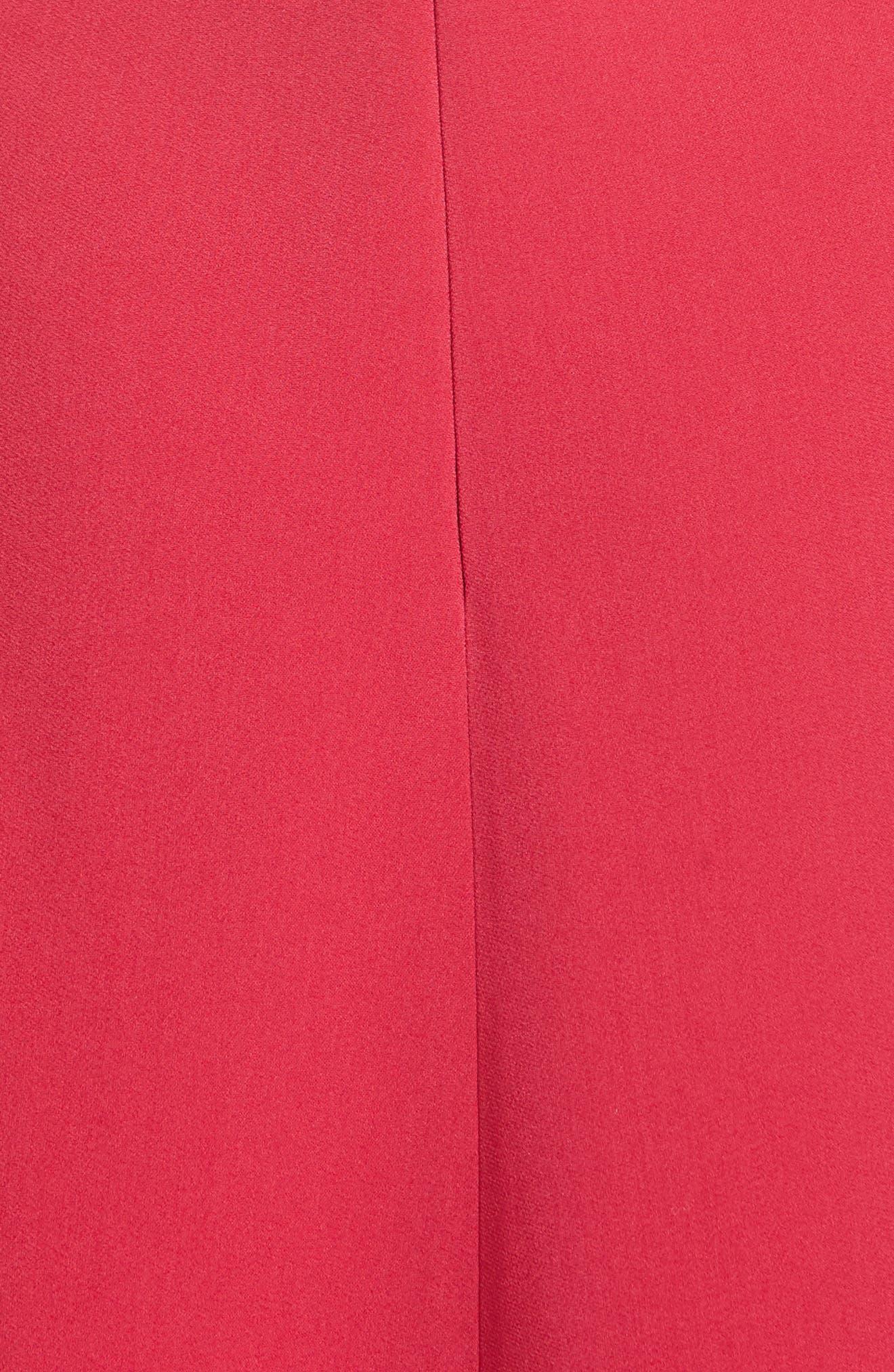 Draped Stretch Cady Dress,                             Alternate thumbnail 5, color,                             650