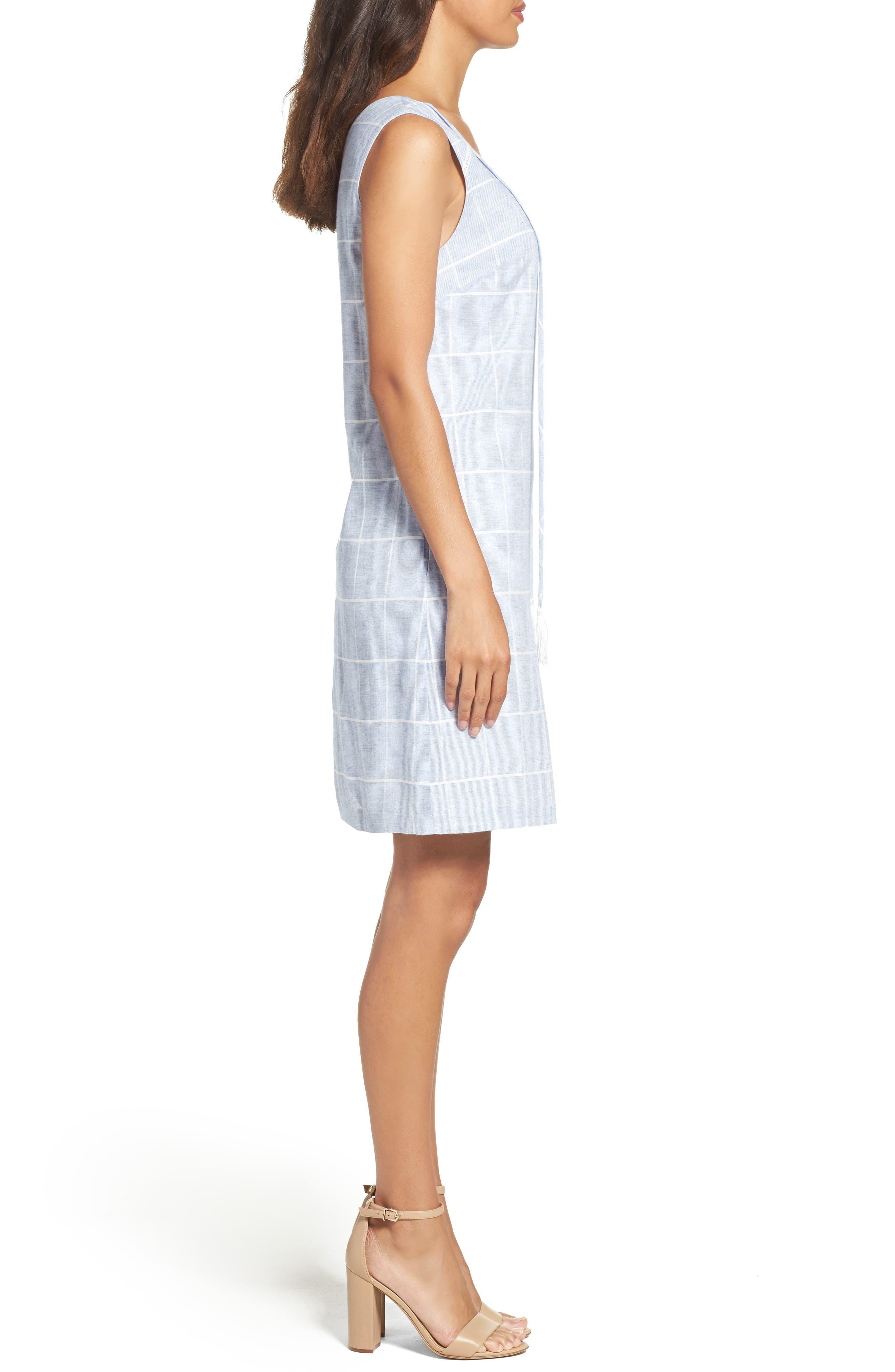 Cotton A-Line Dress,                             Alternate thumbnail 3, color,                             413