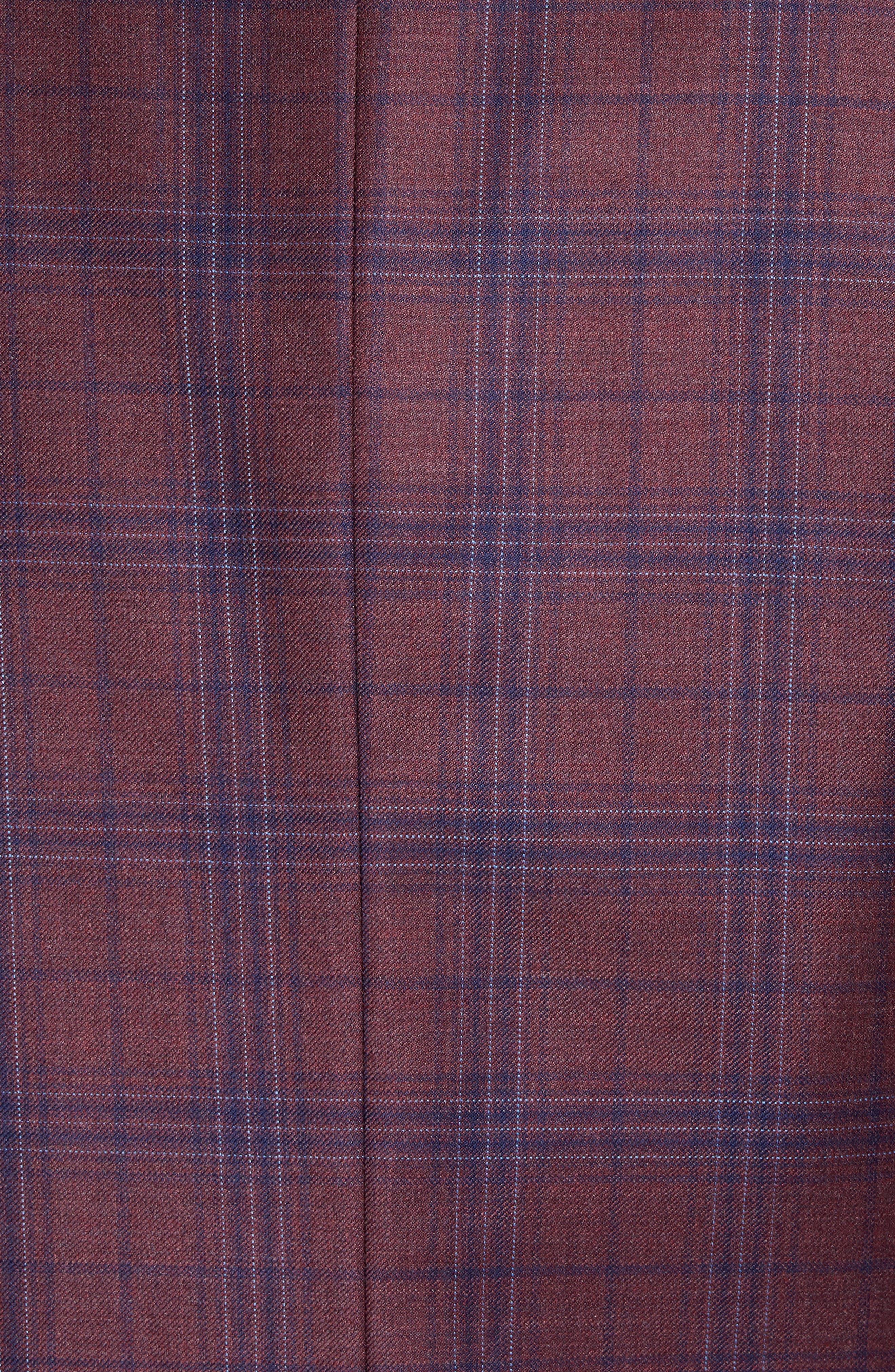 Connor Classic Fit Plaid Wool Sport Coat,                             Alternate thumbnail 6, color,                             930