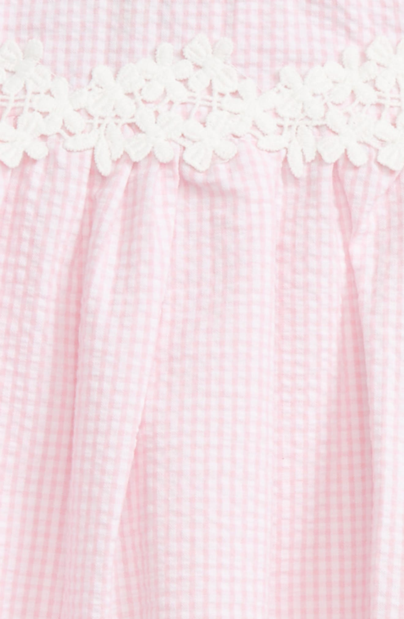 Seersucker Cold Shoulder Dress,                             Alternate thumbnail 3, color,                             654