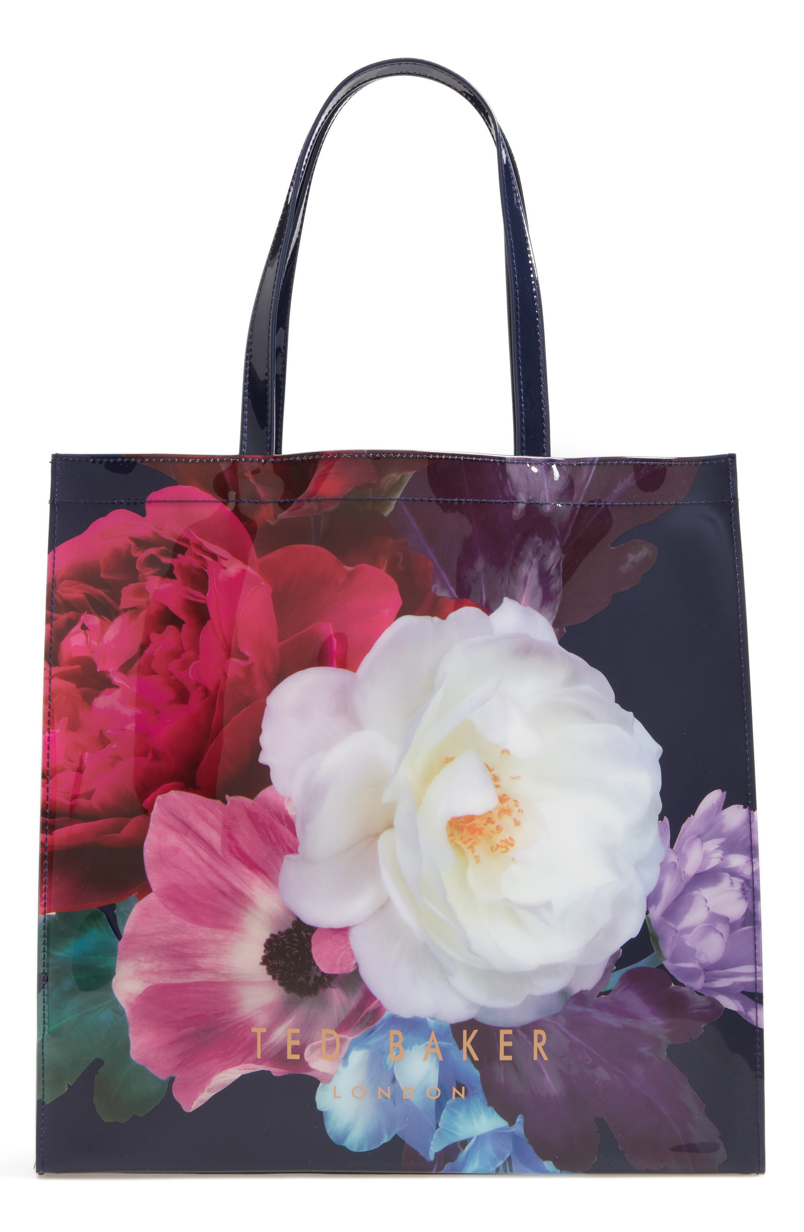 TED BAKER LONDON,                             Blushing Bouquet Large Icon Tote,                             Alternate thumbnail 4, color,                             410
