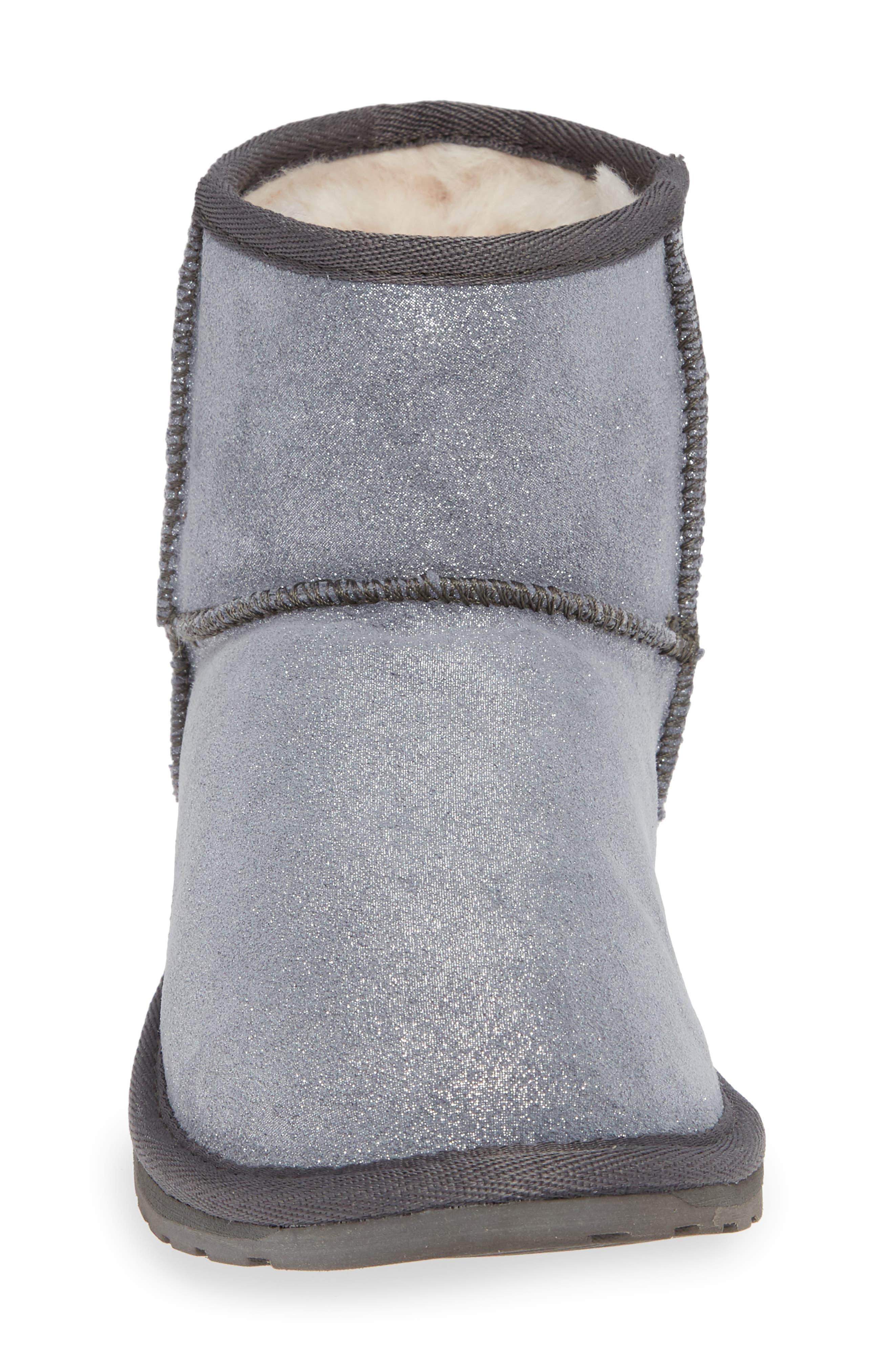 Wallaby Boot,                             Alternate thumbnail 4, color,                             METALLIC CHARCOAL