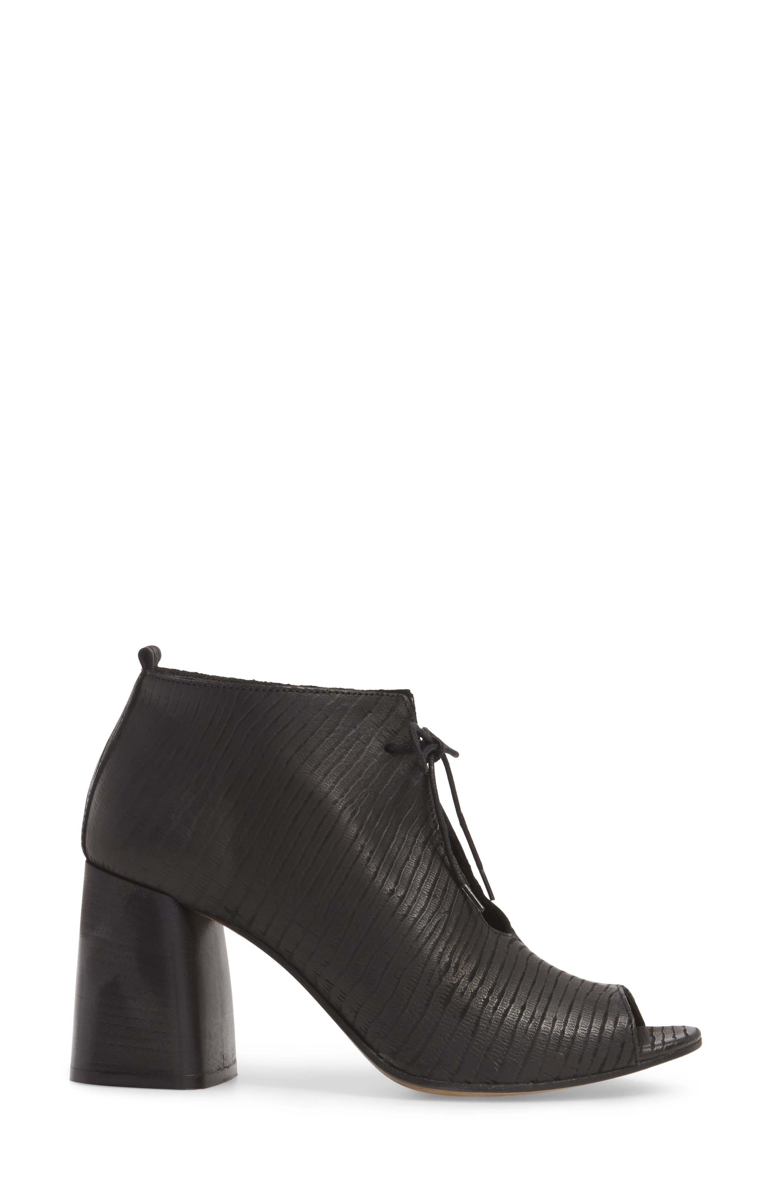 Lacey1 Bootie,                             Alternate thumbnail 3, color,                             BLACK LEATHER