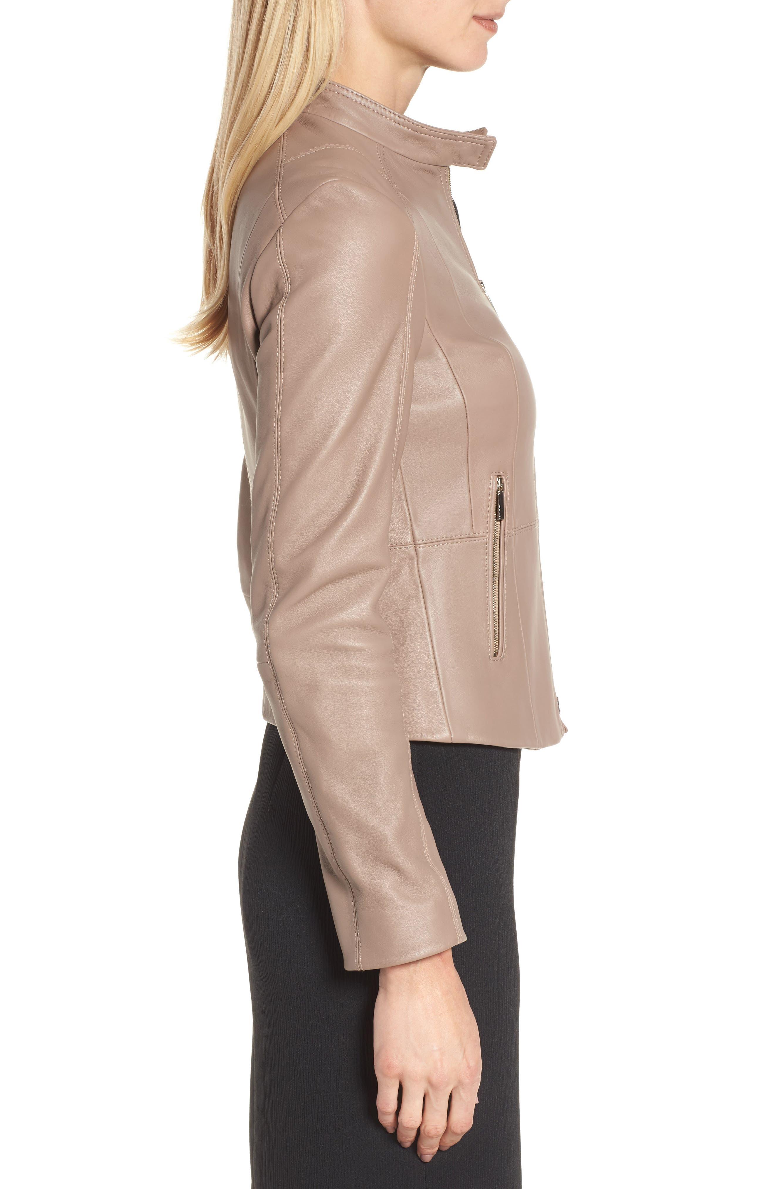 Sammonaie Leather Jacket,                             Alternate thumbnail 6, color,