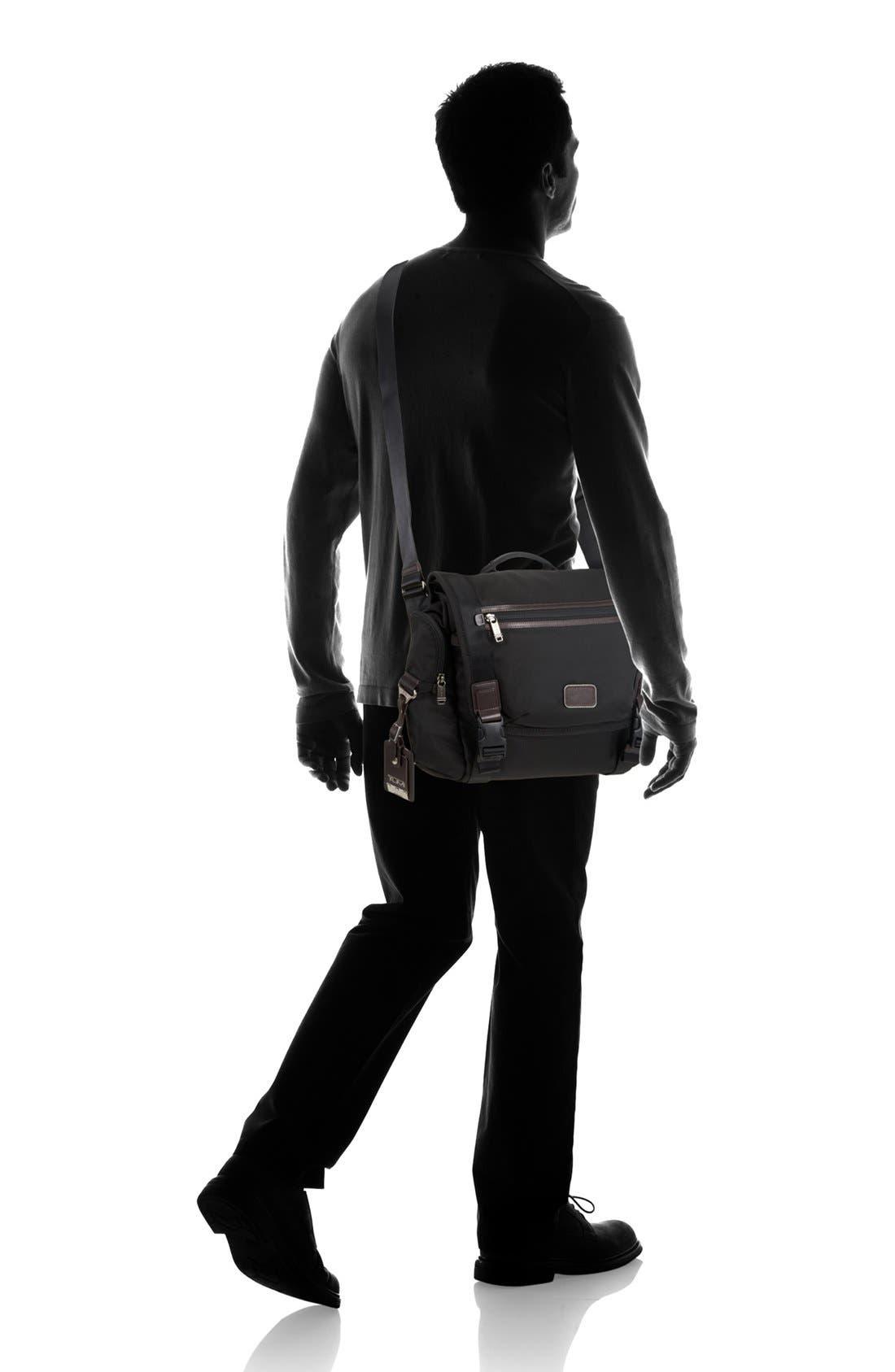 'Alpha Bravo - Benning' Deluxe Messenger Bag,                             Alternate thumbnail 6, color,                             001