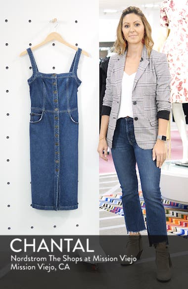 Camille Denim Overall Dress, sales video thumbnail