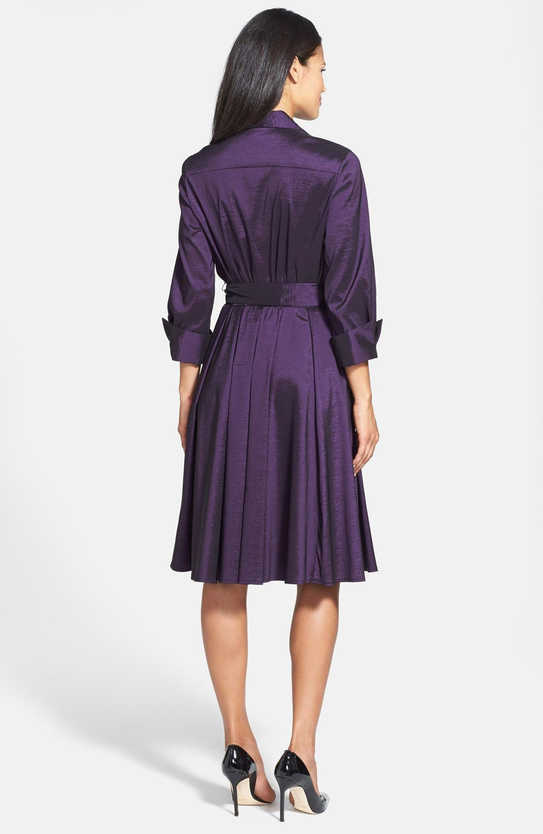 Taffeta Wrap Dress,                             Alternate thumbnail 2, color,                             502