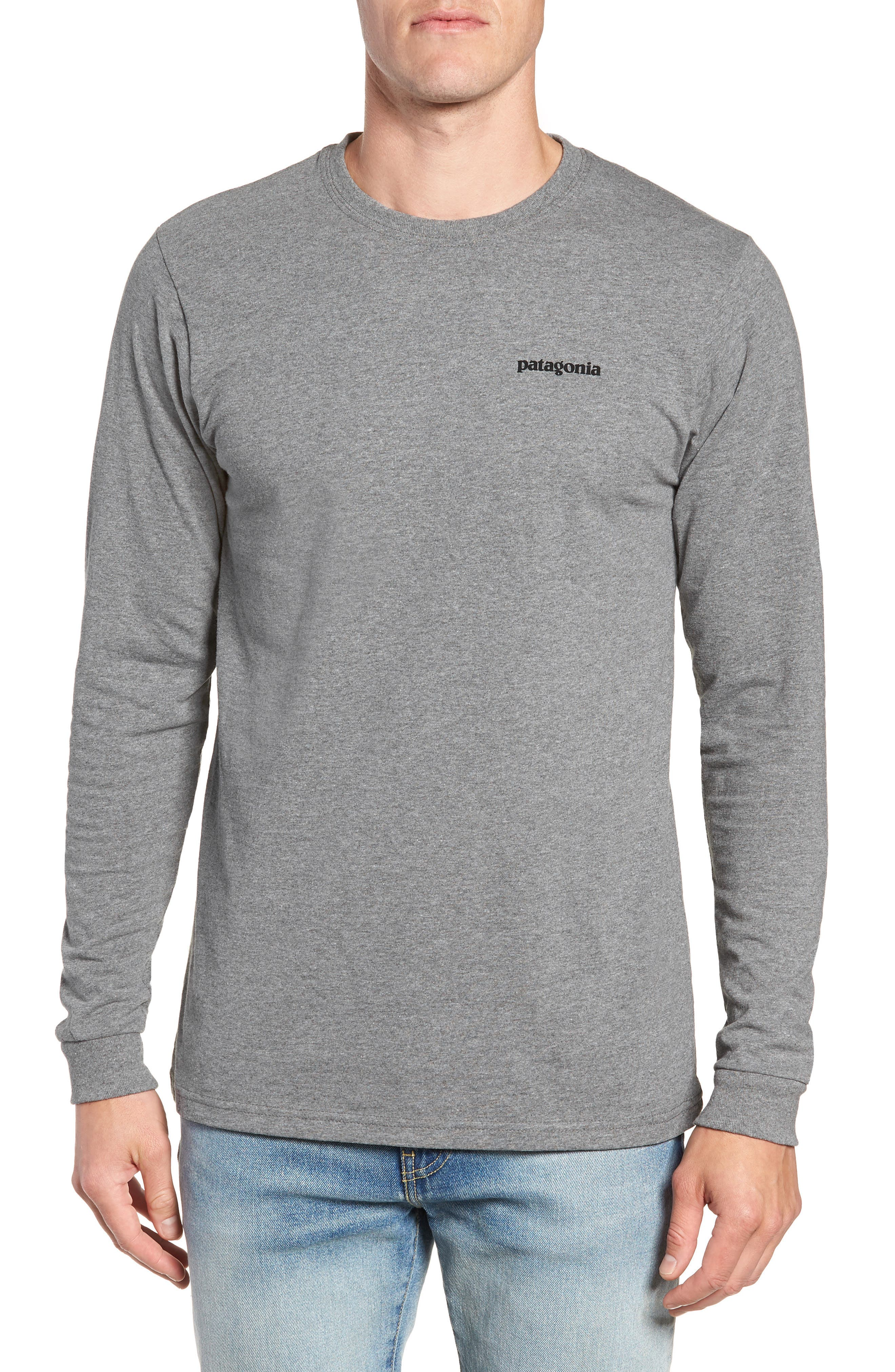 PATAGONIA Fitz Roy Responsibili-Tee Long-Sleeve T-Shirt, Main, color, 020
