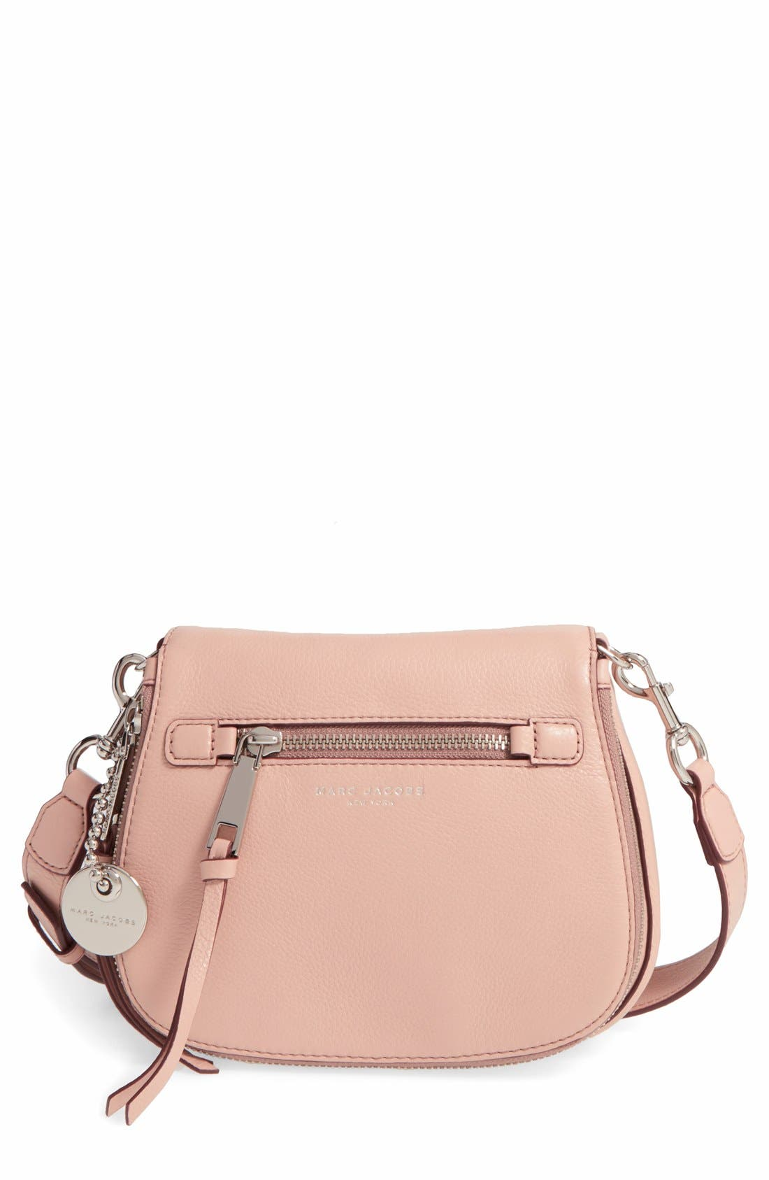 Small Recruit Nomad Pebbled Leather Crossbody Bag,                             Main thumbnail 5, color,